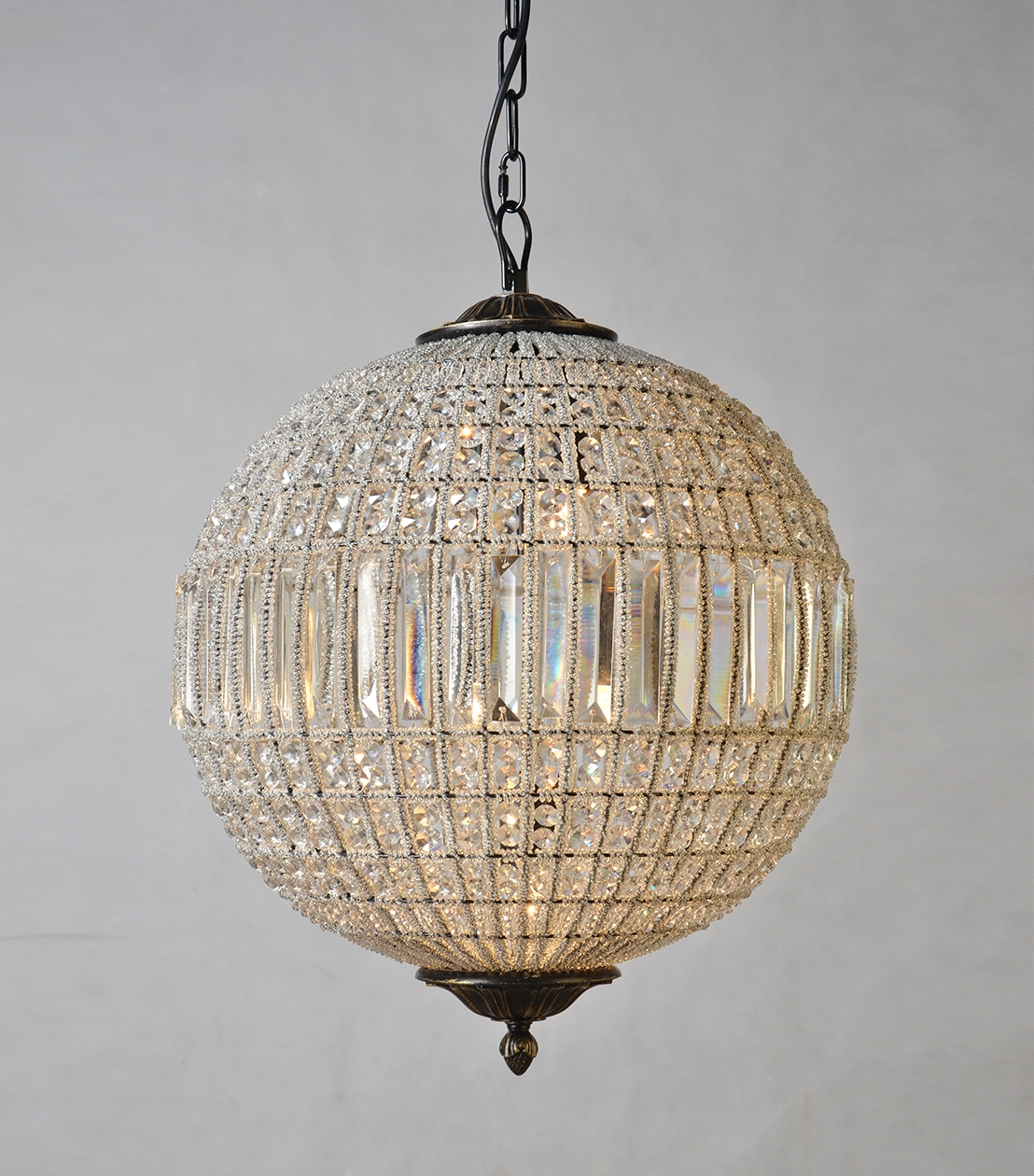 Chandeliers Addison Crystal Globe For Crystal Globe Chandelier (Image 4 of 15)