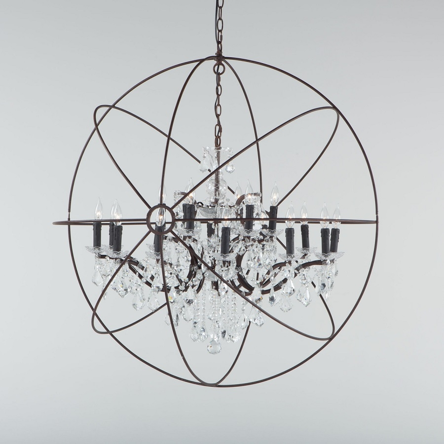 Chandeliers Fixtures High End Direct Regarding Globe Crystal Chandelier (Image 4 of 15)