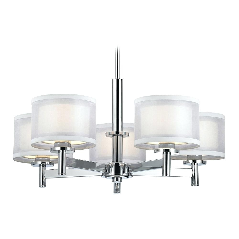 Chandeliers Led Bulb Chandelier For Entryway Foyer Table Dw5015c Intended For Small Red Chandelier (Image 9 of 15)