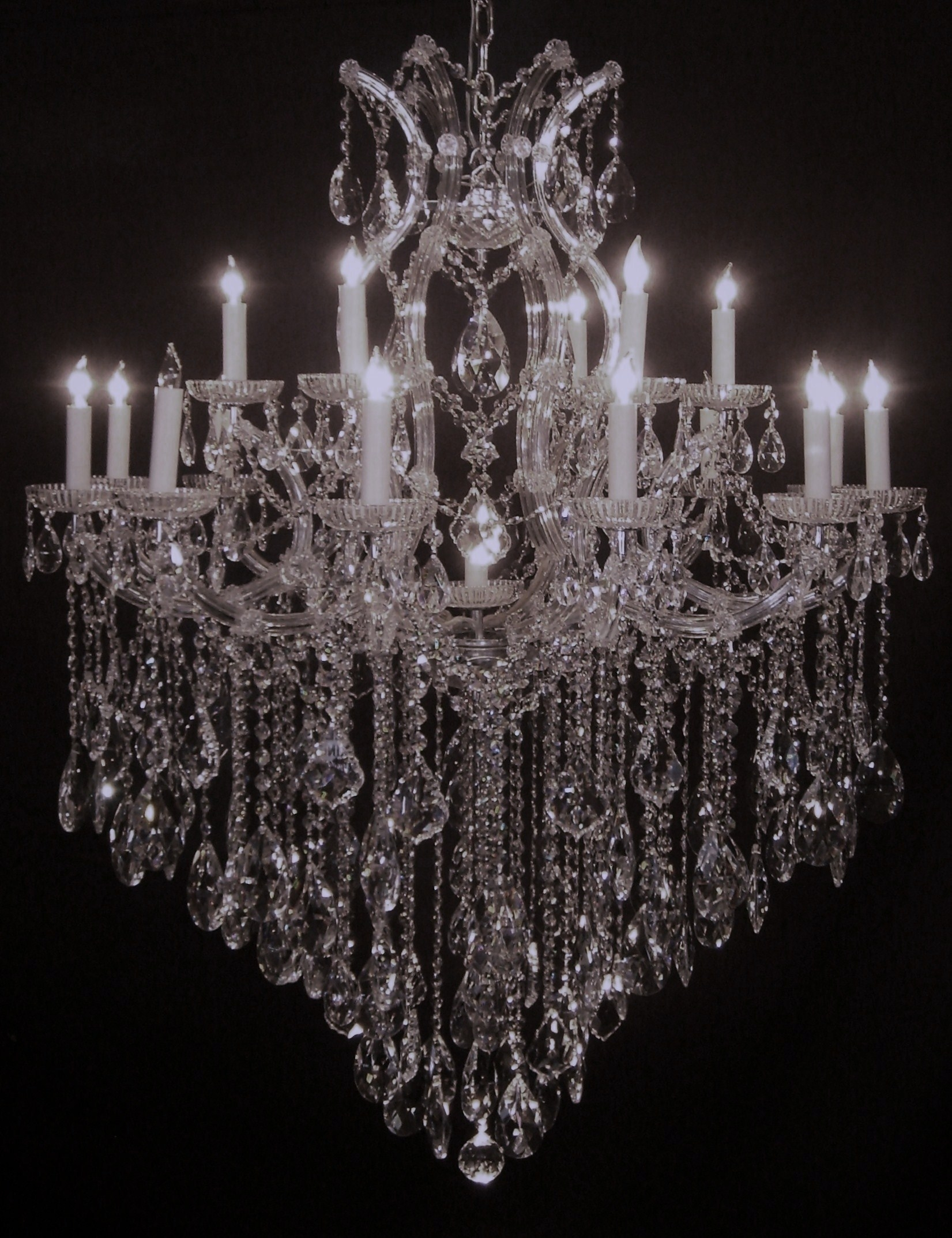 Chandeliers Mortons Antiques For Big Crystal Chandelier (Image 7 of 15)