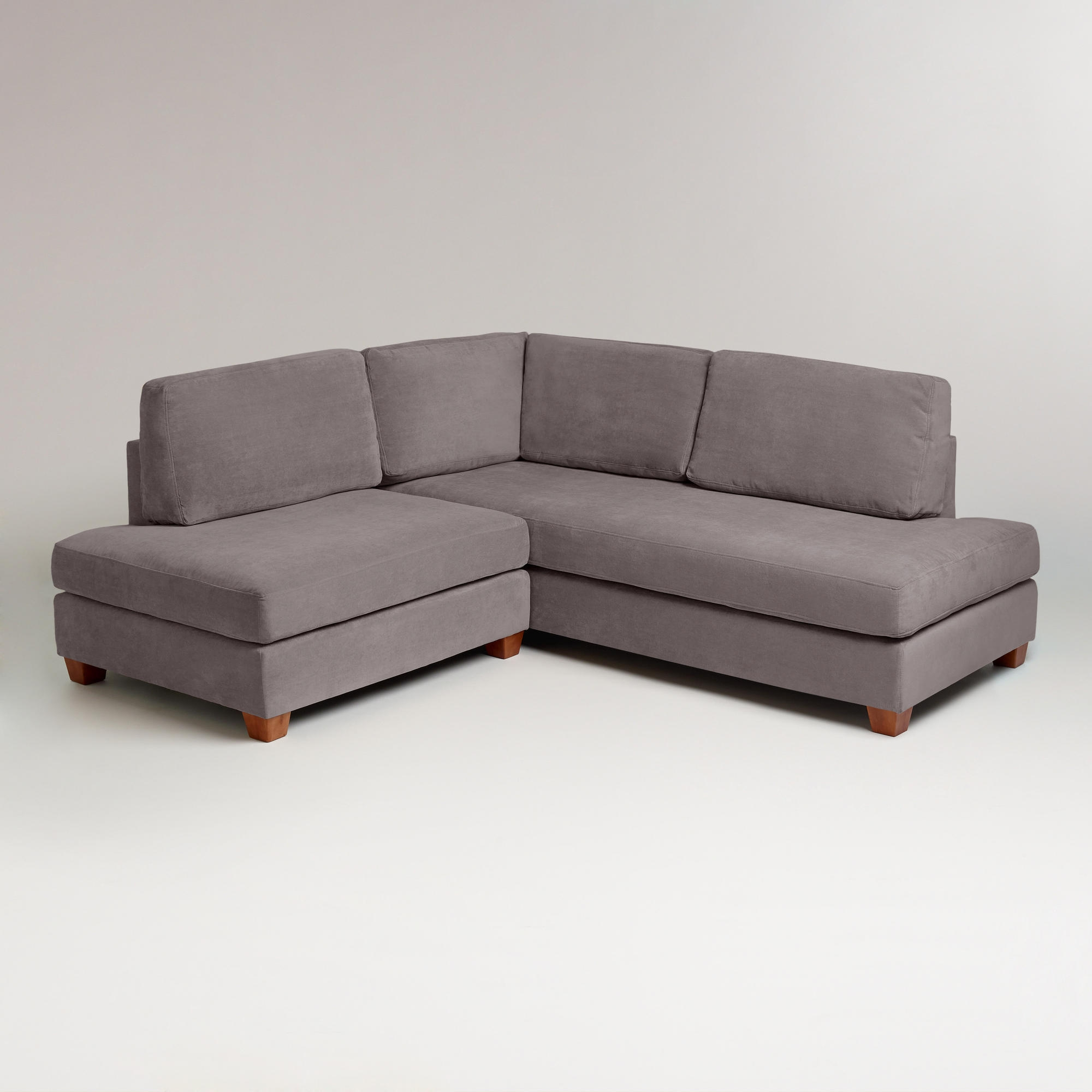 Charcoal Wyatt Sectional Sofa Sectional Sofa In Armless Sectional Sofas (Image 7 of 15)