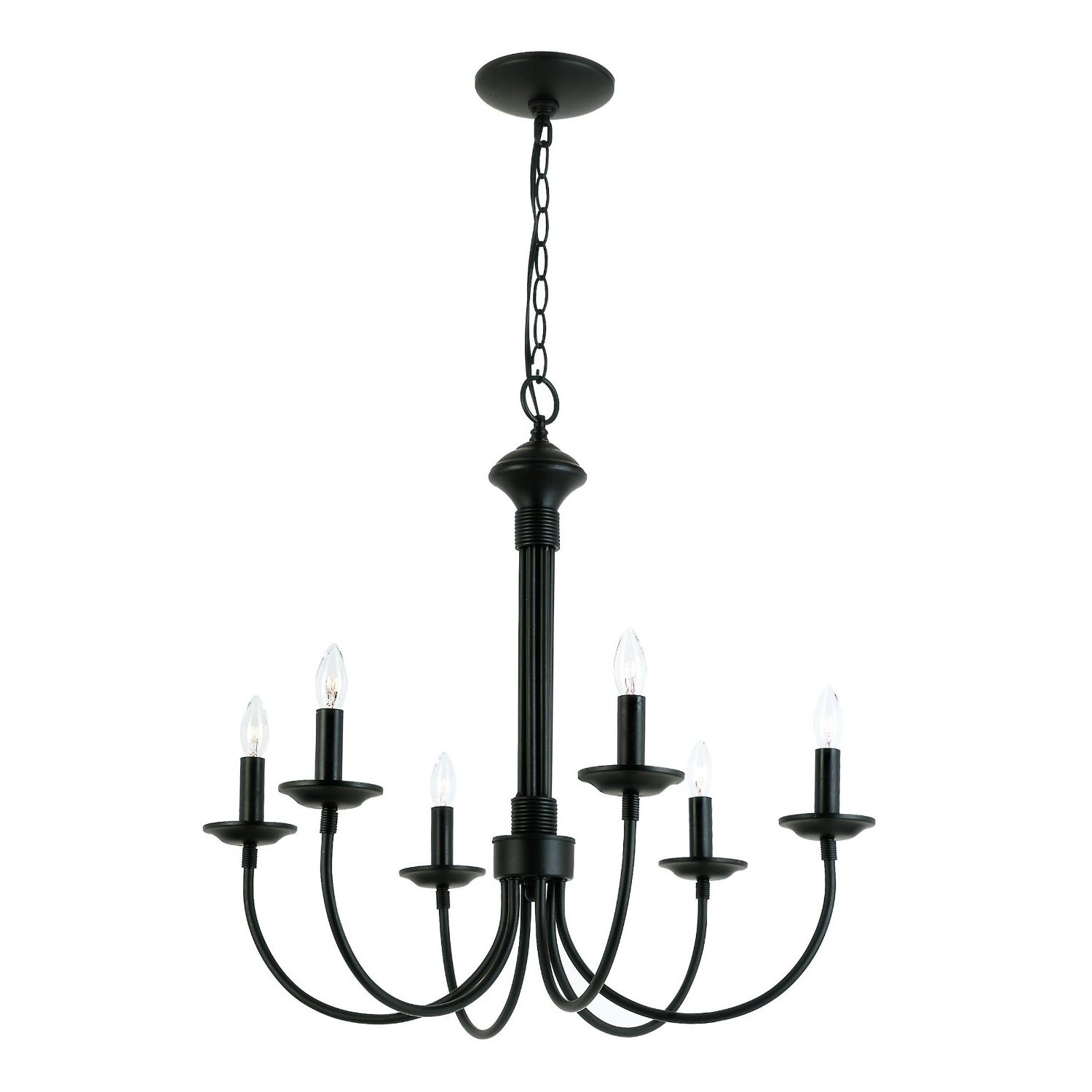 Charlton Home Blue Heron 6 Light Candle Style Chandelier Reviews Pertaining To Candle Light Chandelier (Image 7 of 15)
