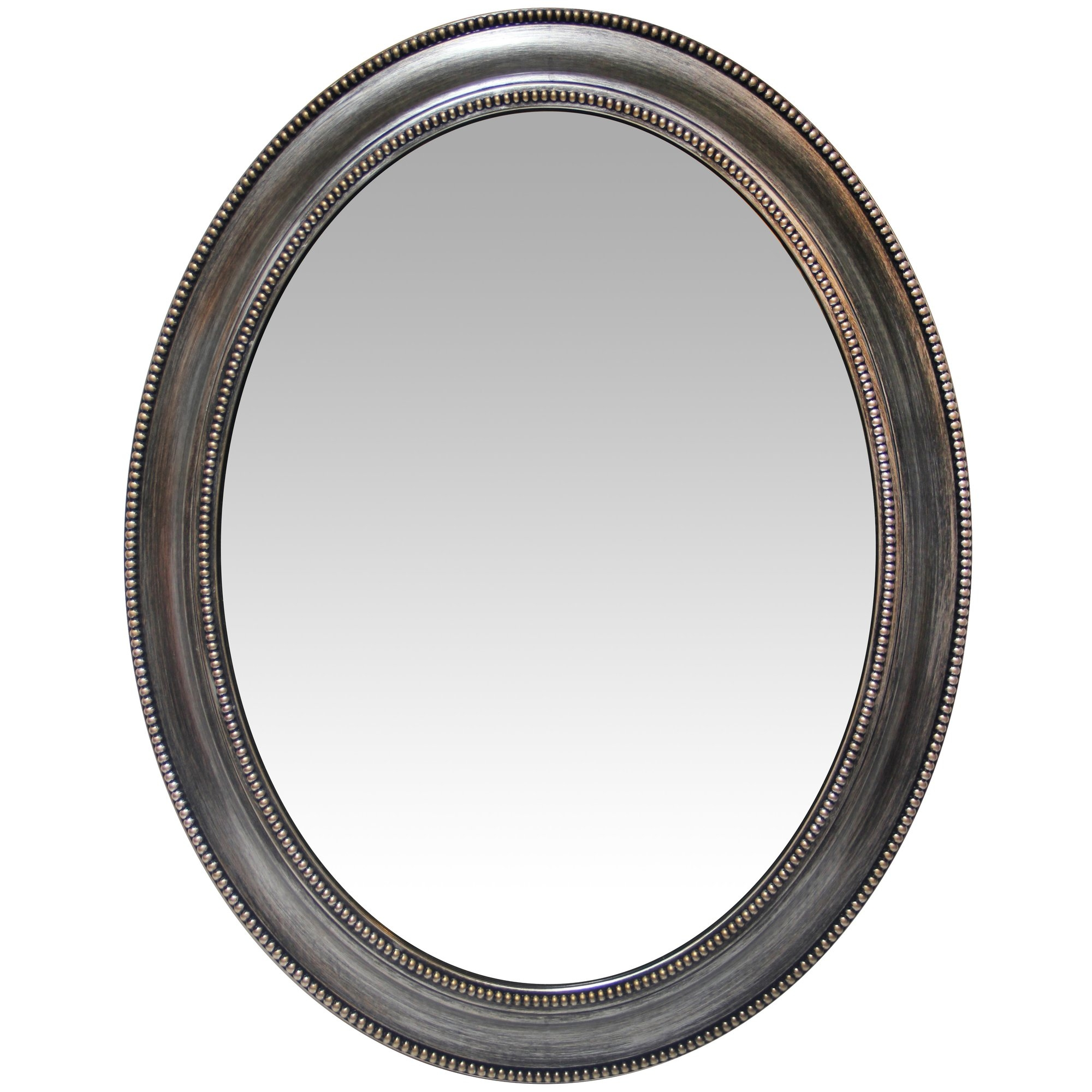 Charlton Home Oval Antique Silver Accent Mirror Reviews Wayfair In Silver Oval Mirror (Image 4 of 15)