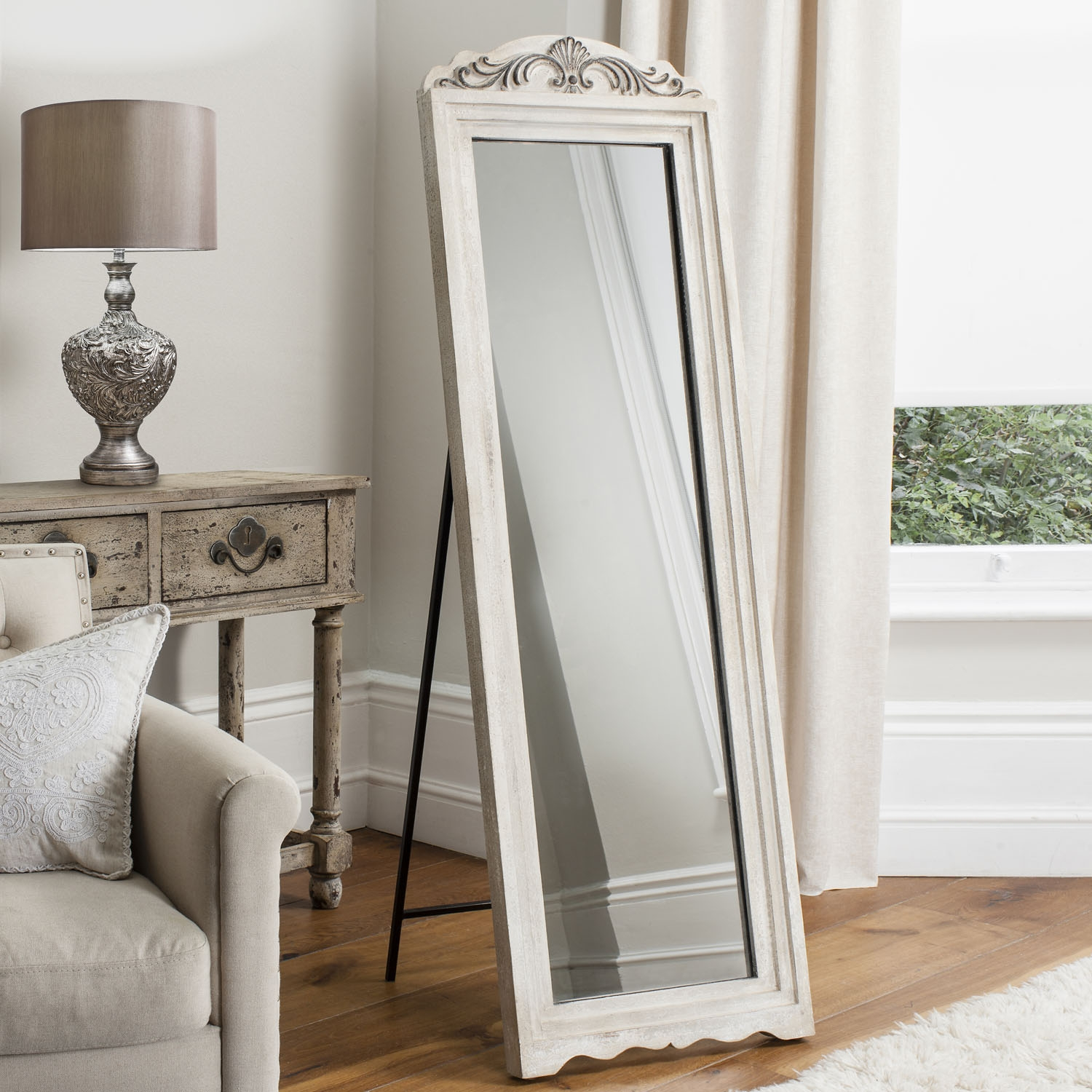 Charming Cheval Mirror Jewelry Armoire Ideas Cheval Mirror Within Shabby Chic Floor Mirror (Image 4 of 15)