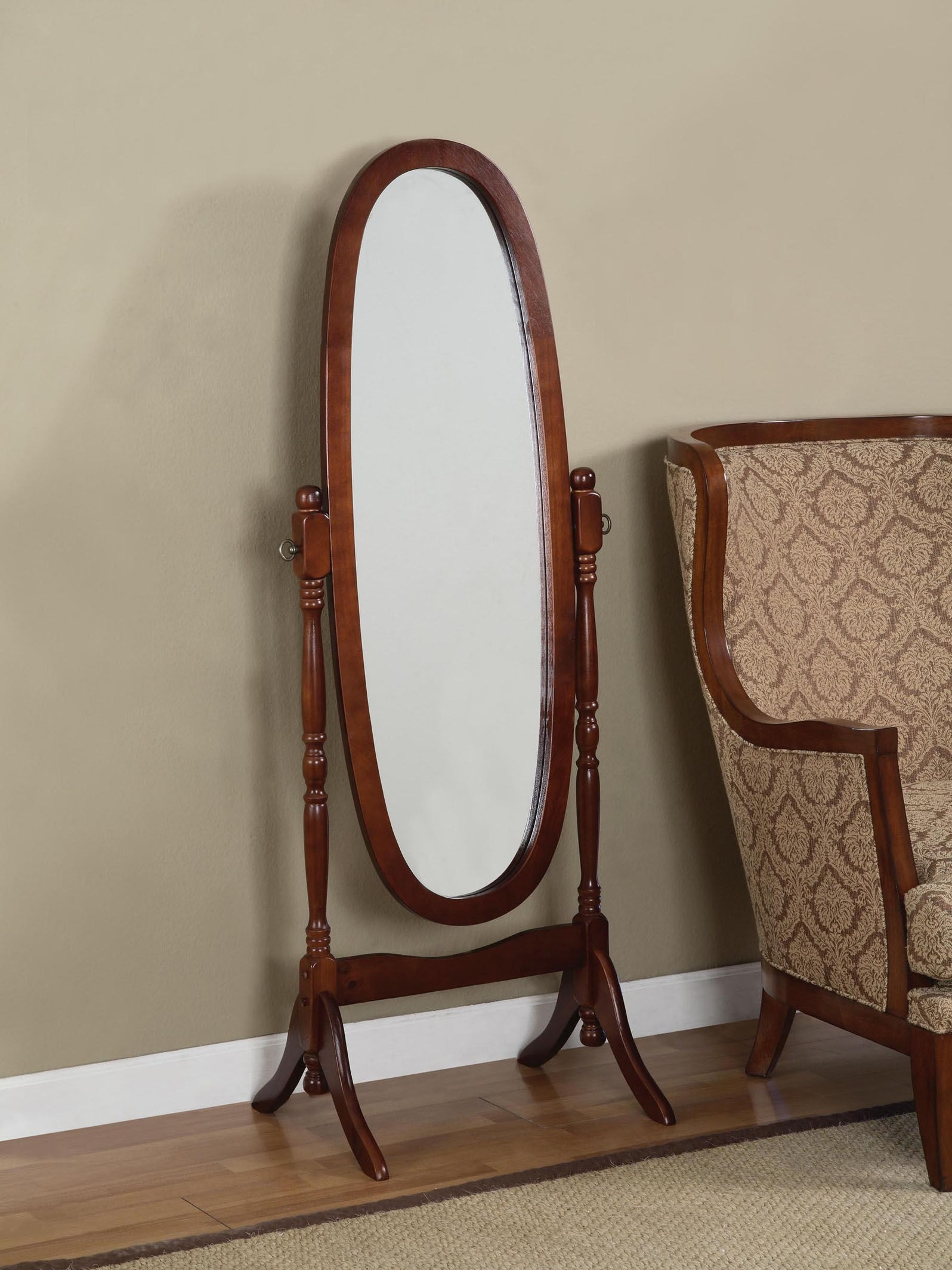 Charming Cheval Mirror Jewelry Armoire Ideas Full Length Swivel Inside Free Standing Oval Mirror (Image 5 of 15)