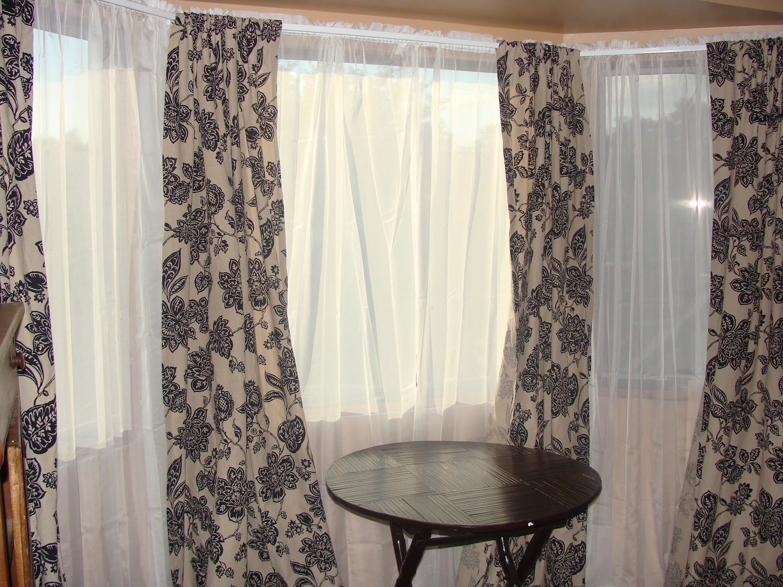 Charming Window Curtain Ideas On Interior With Ready Made Curtains With Ready Made Curtains For Bay Windows (Image 4 of 15)