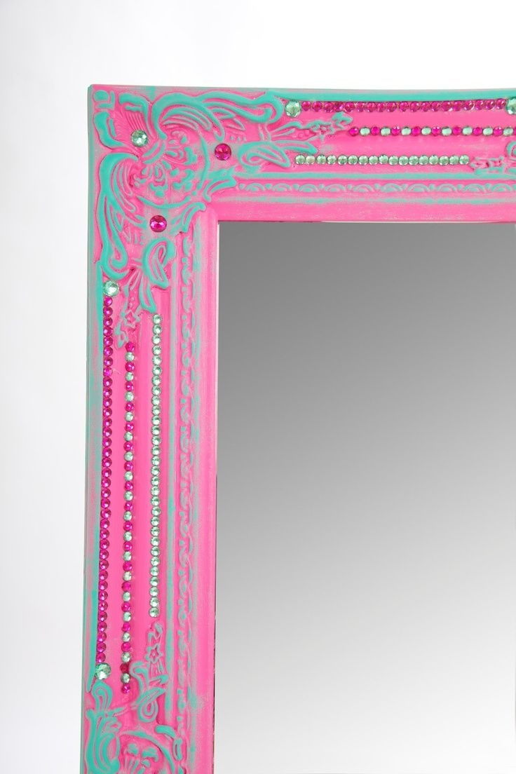 Chasingthegreenfaerie Via 216 Large Pink Turquoise Intended For Large Pink Mirror (Image 4 of 15)