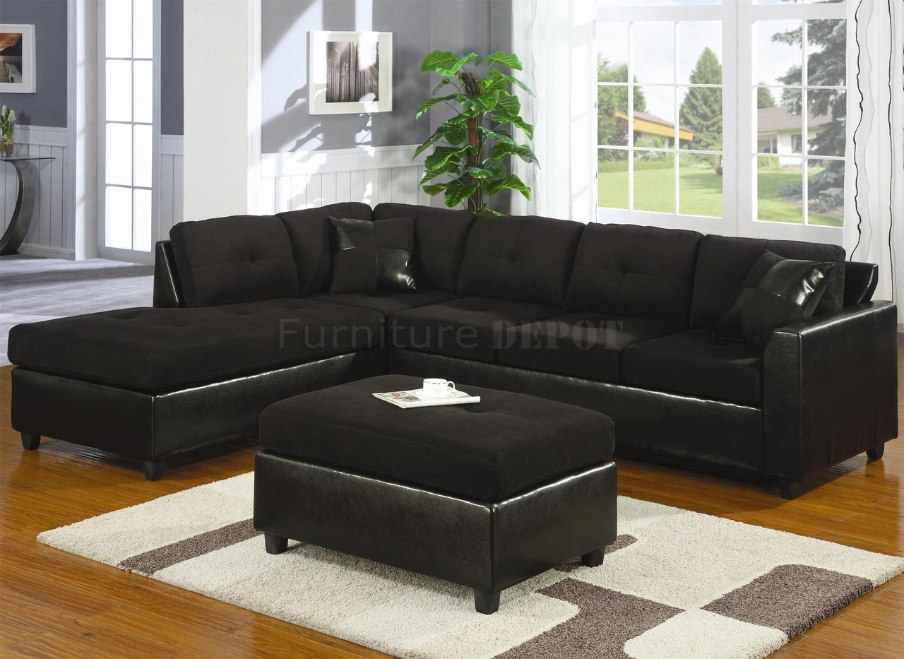 Cheap Black Sectional Sofa Tourdecarroll In Black Sectional Sofa For Cheap (Image 6 of 15)