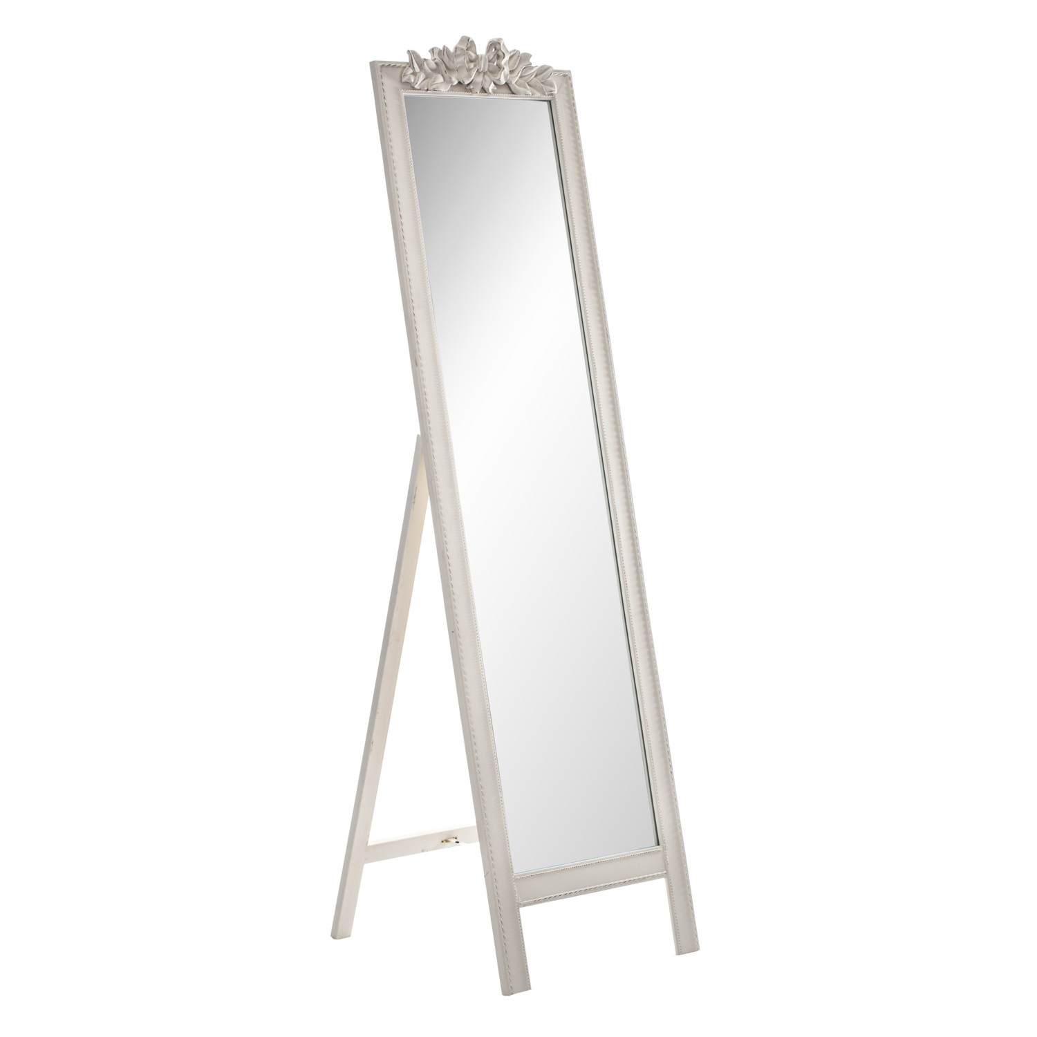 Cheap Floor Standing Mirrors Free Standing Fireplace Gold Black Regarding Black Floor Standing Mirror (Image 5 of 15)