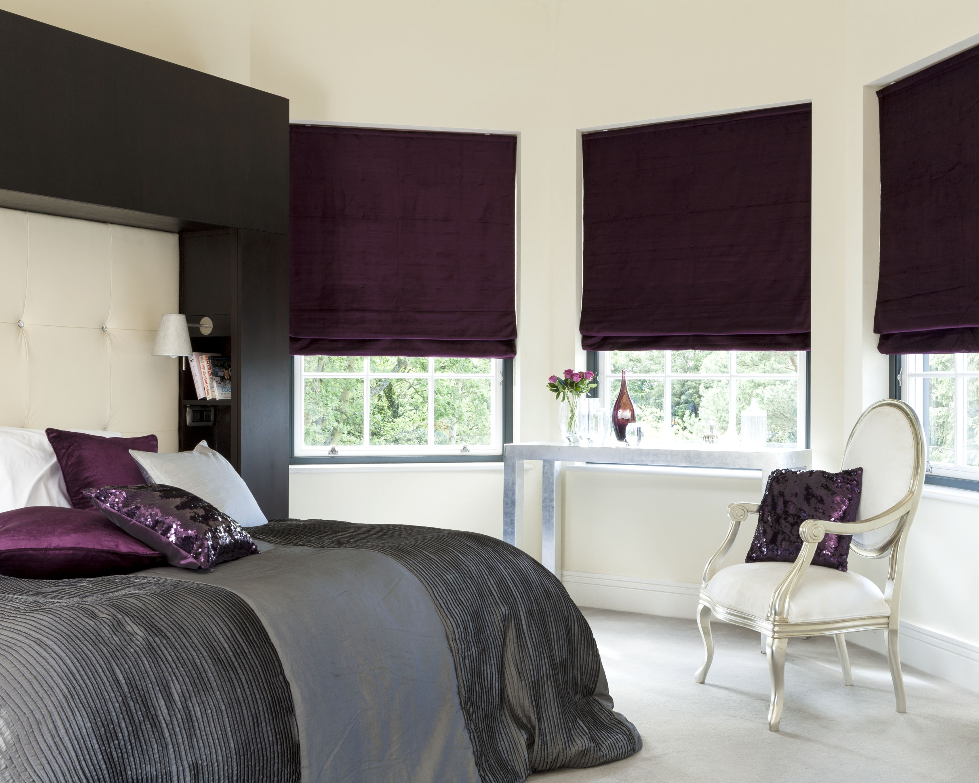 Cheapest Blinds Uk Ltd Black Roman Blinds Intended For Roman Blinds Black (Image 7 of 15)