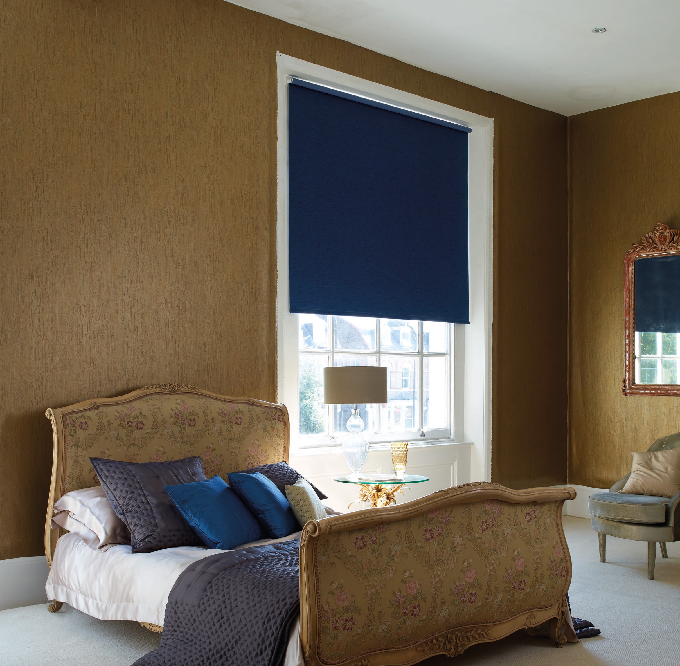 Cheapest Blinds Uk Ltd Cheap Roller Blinds In Blue Roman Blinds (Image 9 of 15)