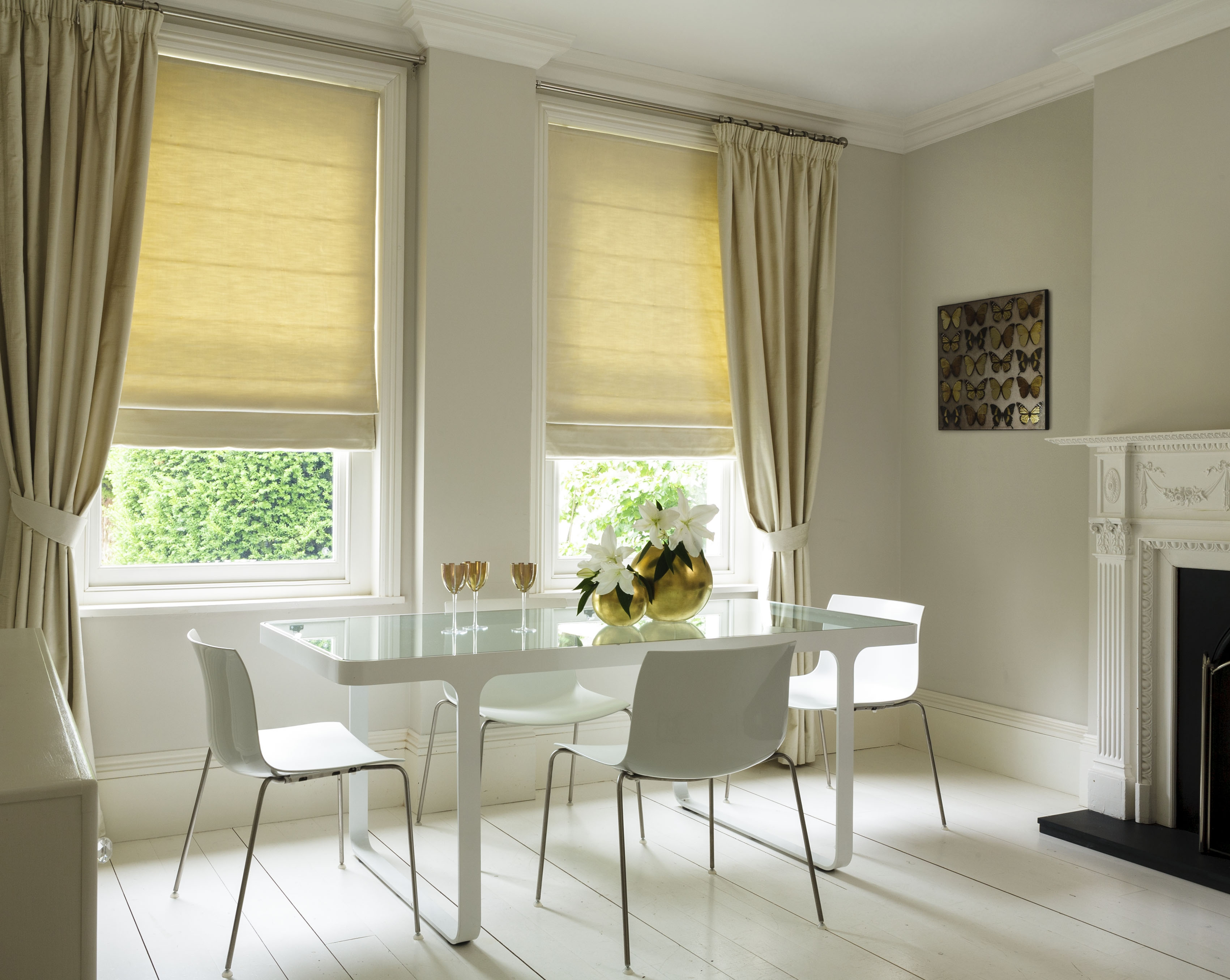 Cheapest Blinds Uk Ltd Cream Stripe Roman Blinds Pertaining To Striped Roman Blinds (Image 3 of 15)
