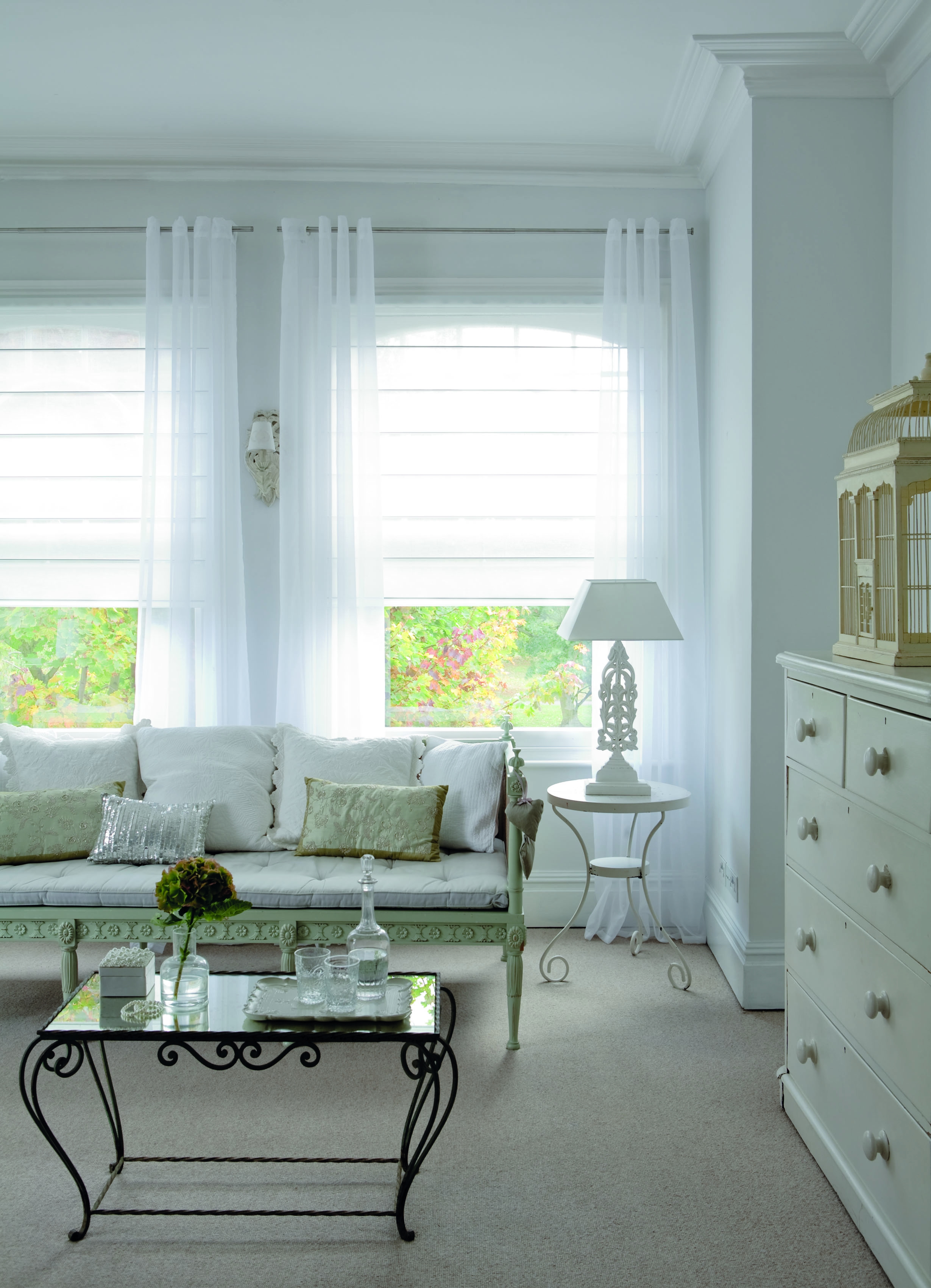 Cheapest Blinds Uk Ltd Cream Stripe Roman Blinds With Regard To Striped Roman Blinds (Image 5 of 15)