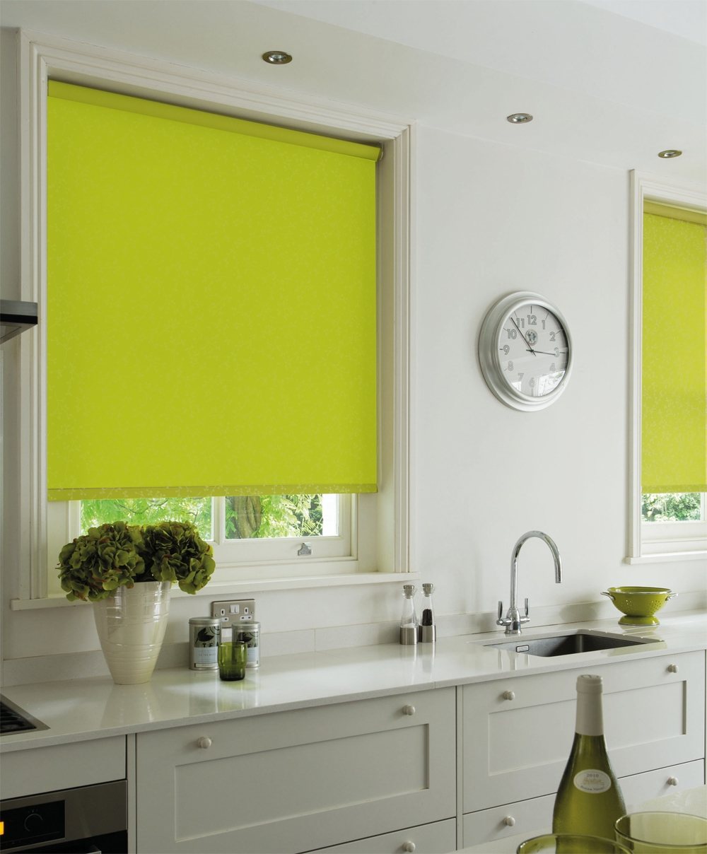 Cheapest Blinds Uk Ltd Lime Green Blackout Roller Blind For Green Roman Blinds (Image 6 of 15)