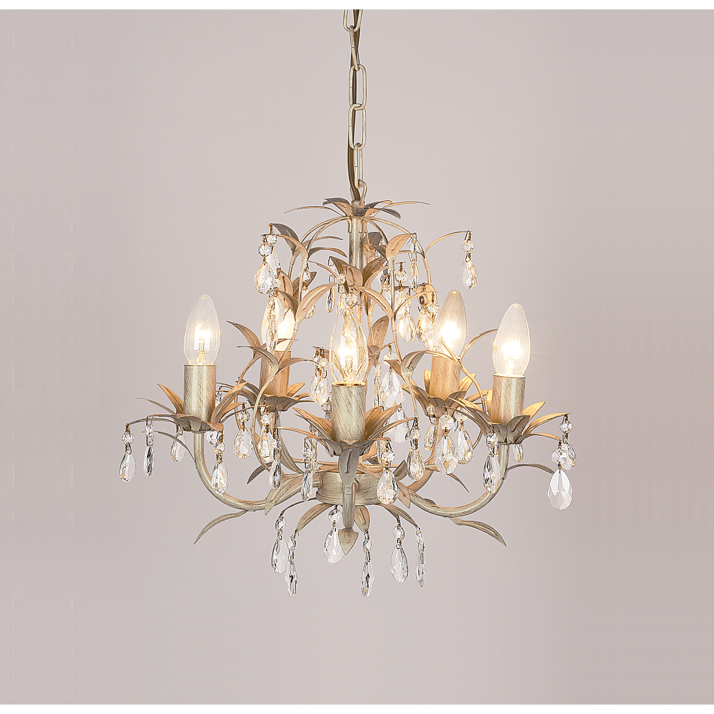 Chella Cream 5 Light Chandelier At Laura Ashley Intended For Cream Chandelier (Image 6 of 15)