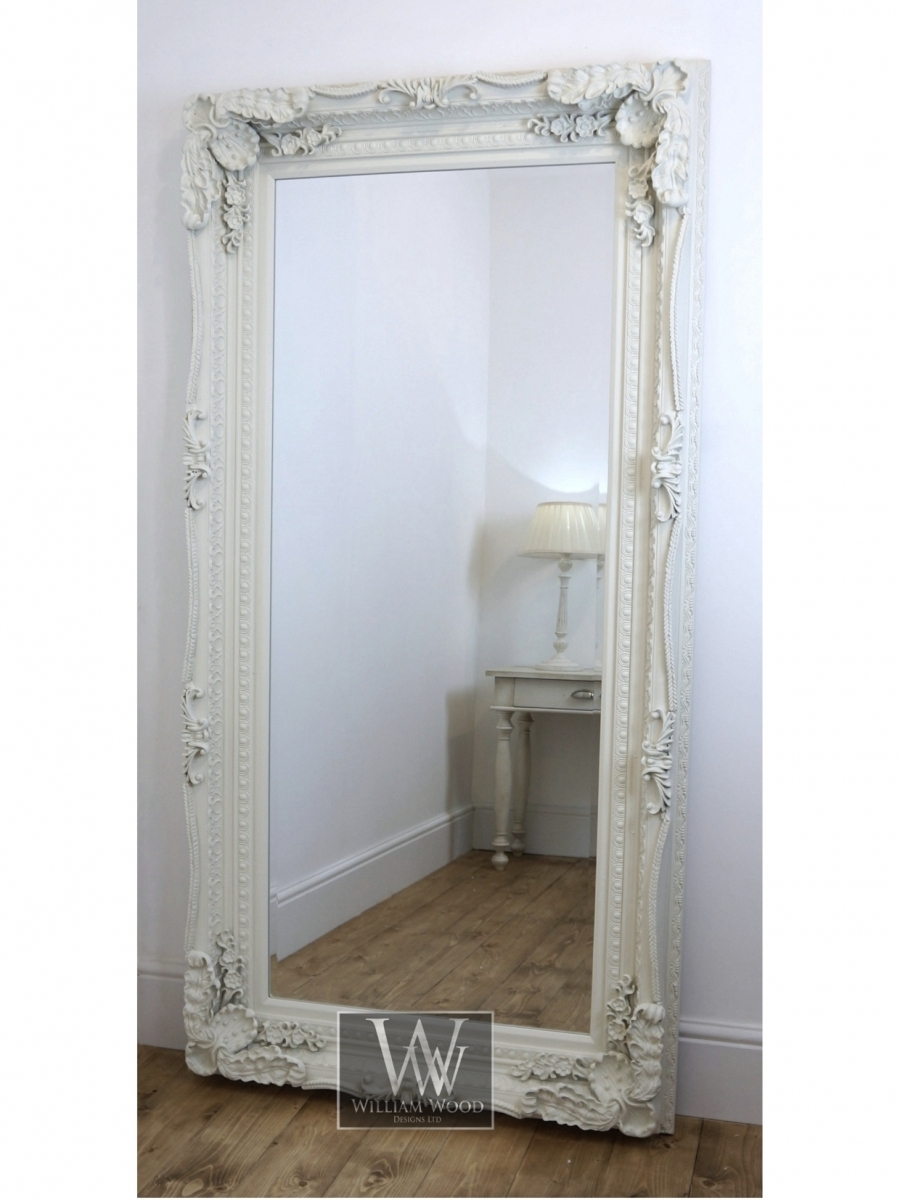 Chelsea 72 X 36 White William Wood Designs Mirrors And Intended For Ornate Leaner Mirror (Image 2 of 15)