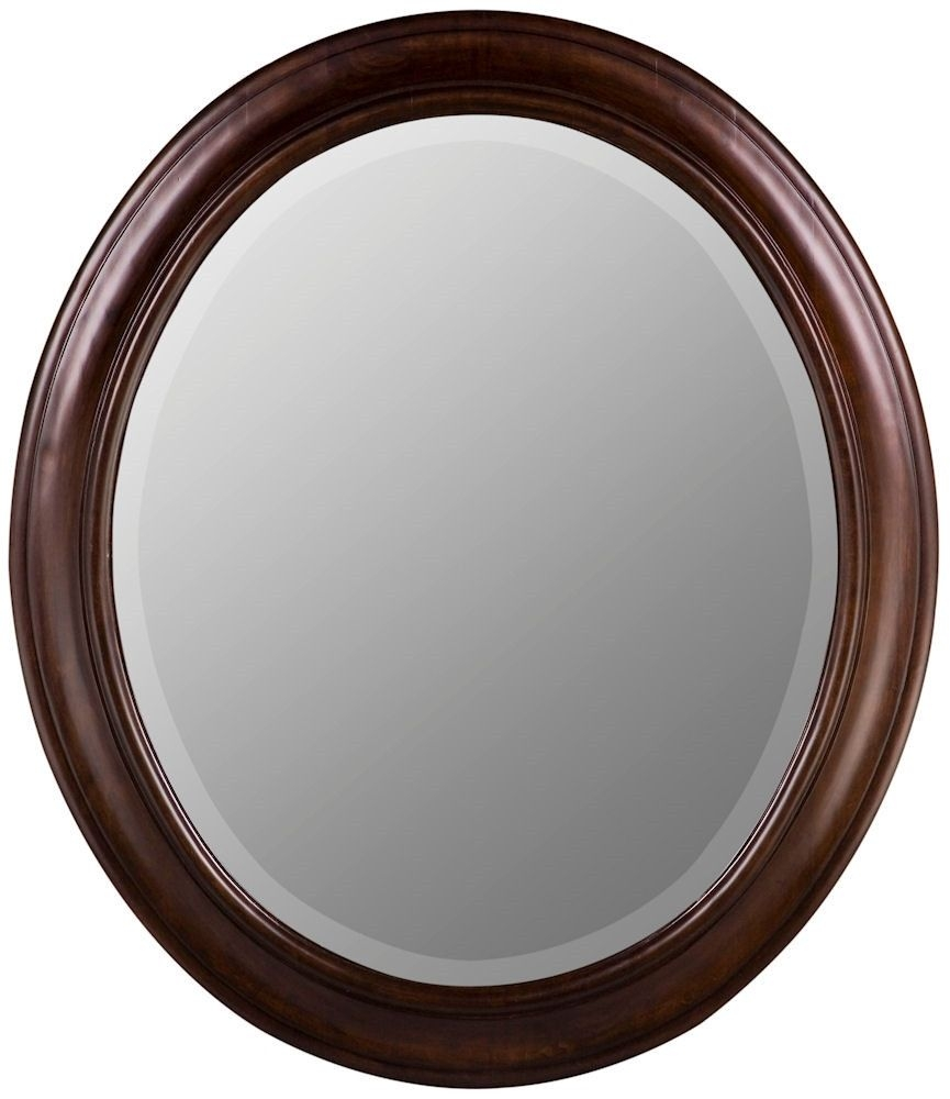 Chelsea Tobacco Extra Large Oval Wall Mirror 26 X 30 Inches Intended For Large Oval Wall Mirror (Image 8 of 14)