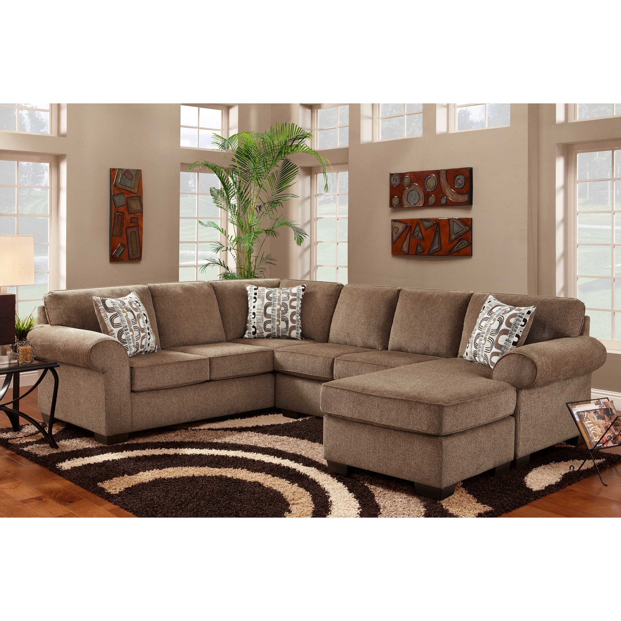 Chenille Sectional Sofas Youll Love Wayfair Intended For Chenille Sectional Sofas (Image 4 of 15)