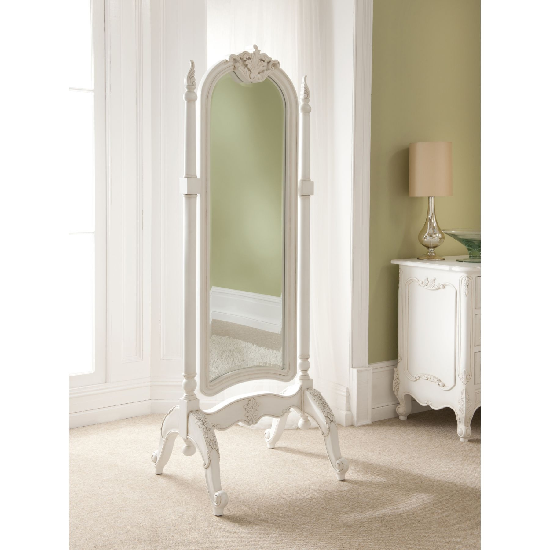 Cheval Mirror Cheval Mirror Pinterest Antiques We And French Pertaining To Cream Antique Mirror (View 10 of 15)
