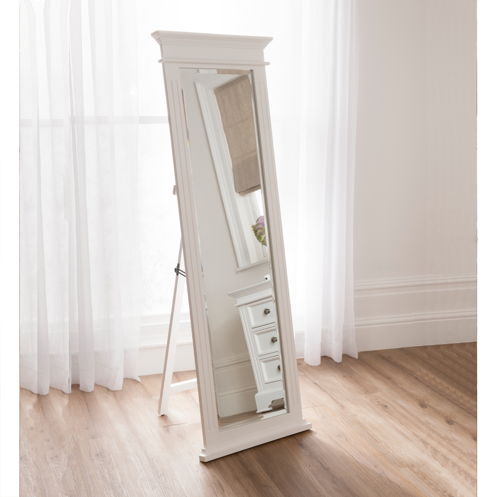 Cheval Mirrors French Style Mirrors Shab Chic Inside Shabby Chic Floor Standing Mirror (Image 6 of 15)
