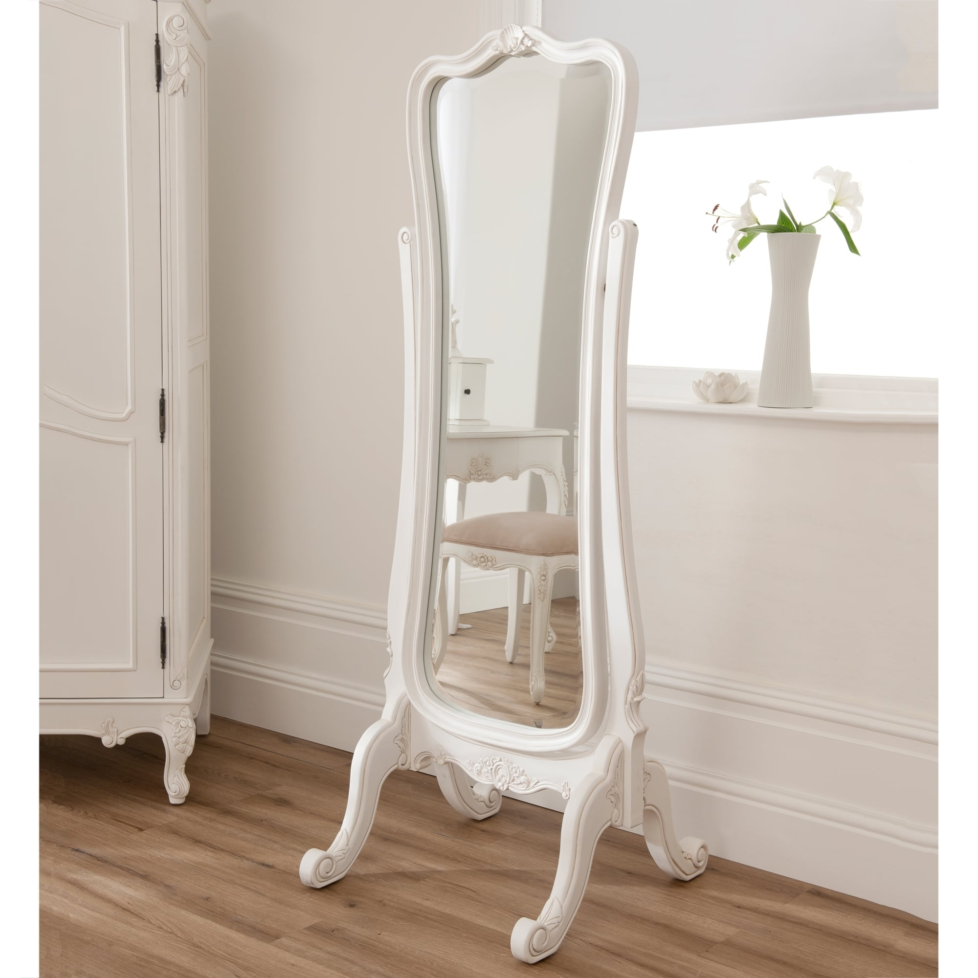 Cheval Mirrors French Style Mirrors Shab Chic Intended For French Floor Standing Mirror (Image 11 of 15)