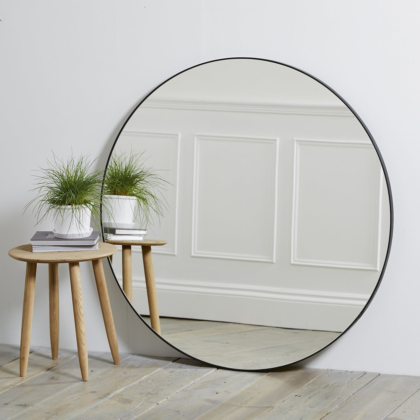 Chiltern Thin Metal Round Mirror The White Company Uk Home Pertaining To White Metal Mirror (Image 3 of 15)