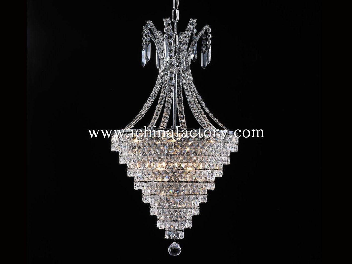 China Factory Wowlite Cone Shape Chandelier Pendant Lamp Dressed Within Chinese Chandelier (Image 2 of 15)