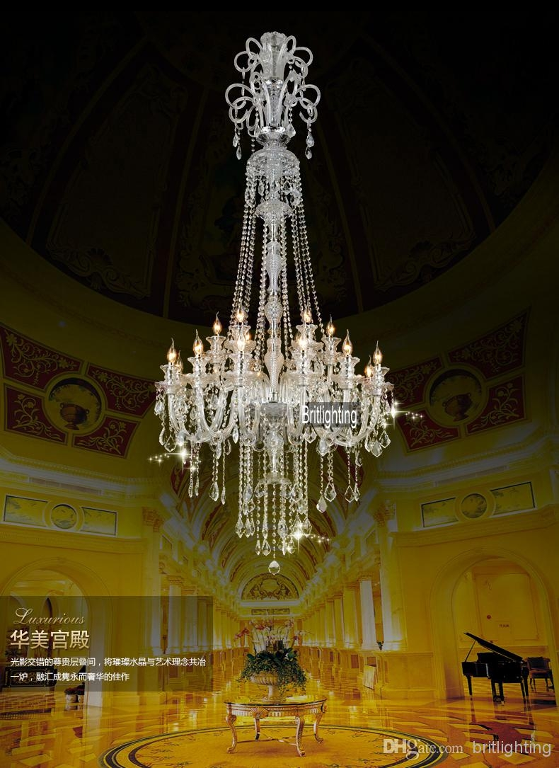 Chinese Chandeliers Large Kitchen Chandelier Crystal Pendants For Regarding Modern Large Chandelier (Image 8 of 15)