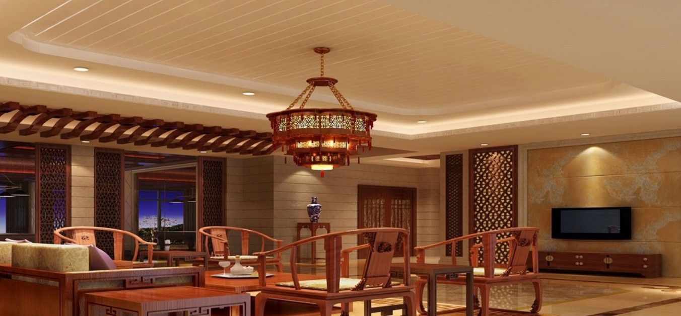 Chinese Style Chandelier Rendering Download 3d House Regarding Chinese Chandelier (Image 5 of 15)