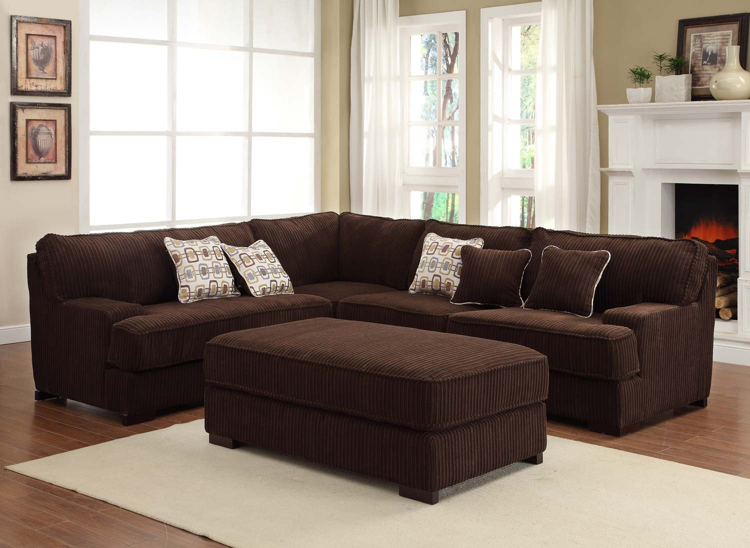 Chocolate Brown Sectional Sofa Sofa Menzilperde With Regard To Chocolate Brown Sectional Sofa (Image 9 of 15)