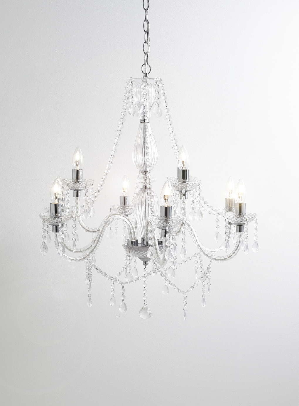 Chrome Bryony 9 Light Chandelier Bhs Bedroom Lighting Living Regarding Vintage Style Chandelier (Image 8 of 15)