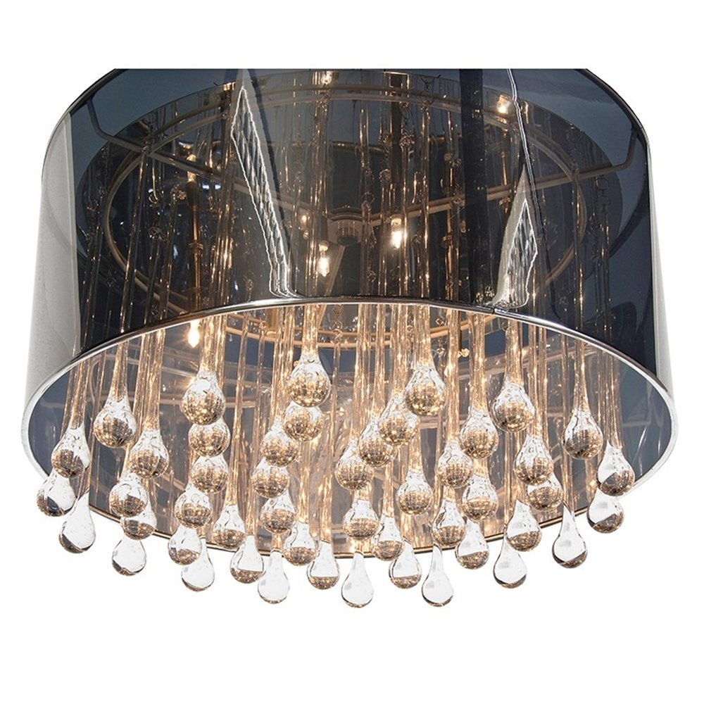 Chromeglass Tear Drops Chandelier With Regard To Chrome And Glass Chandelier (Image 7 of 15)