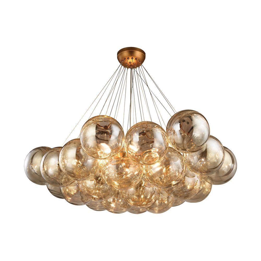 Cielo 6 Light Antique Gold Leaf Chandelier Tn 999699 The Home Depot With Gold Leaf Chandelier (Image 3 of 15)