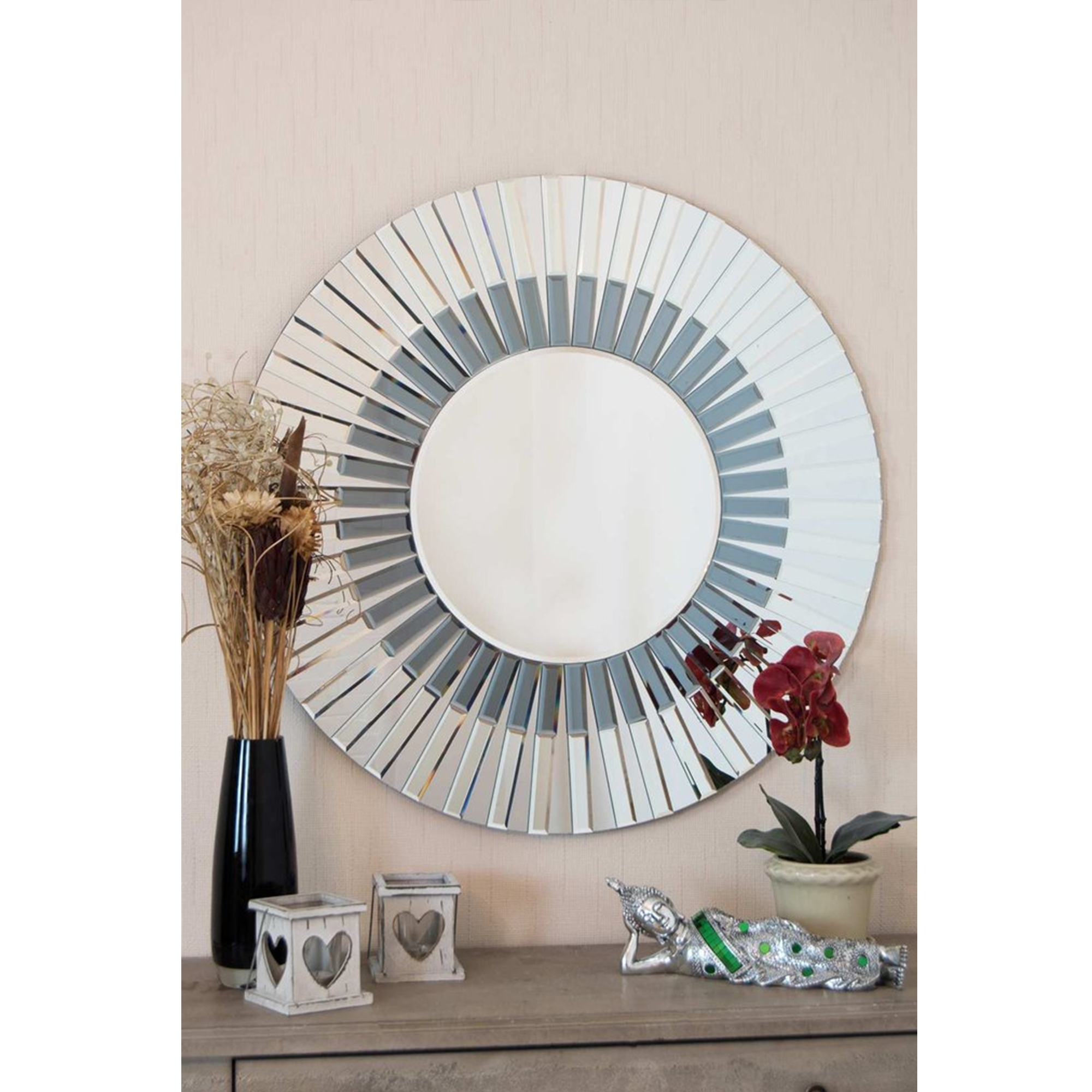 Circle Decorative Venetian Mirror Decorative Glass Mirrors For Venetian Mirror Table (Image 2 of 15)