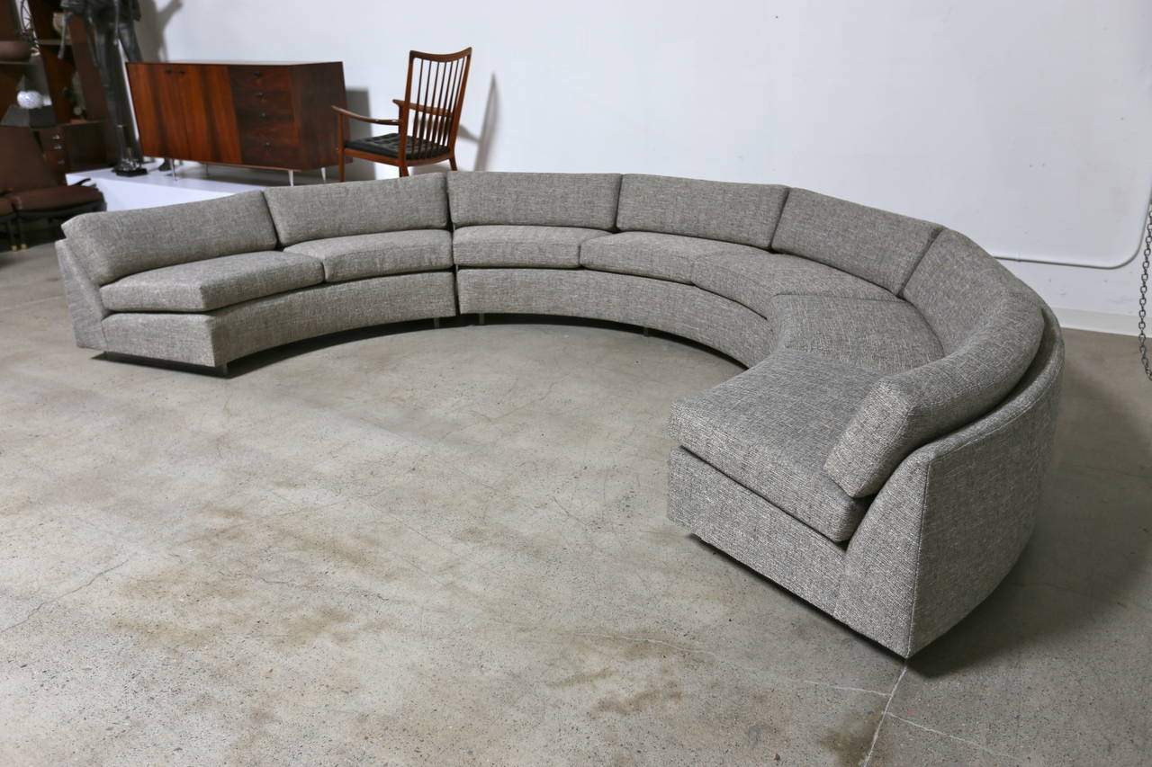 Circle Sofa Chair Circle Sectional Sleeper Sofa 12 Terrific Half With Regard To Circular Sectional Sofa (Image 1 of 15)