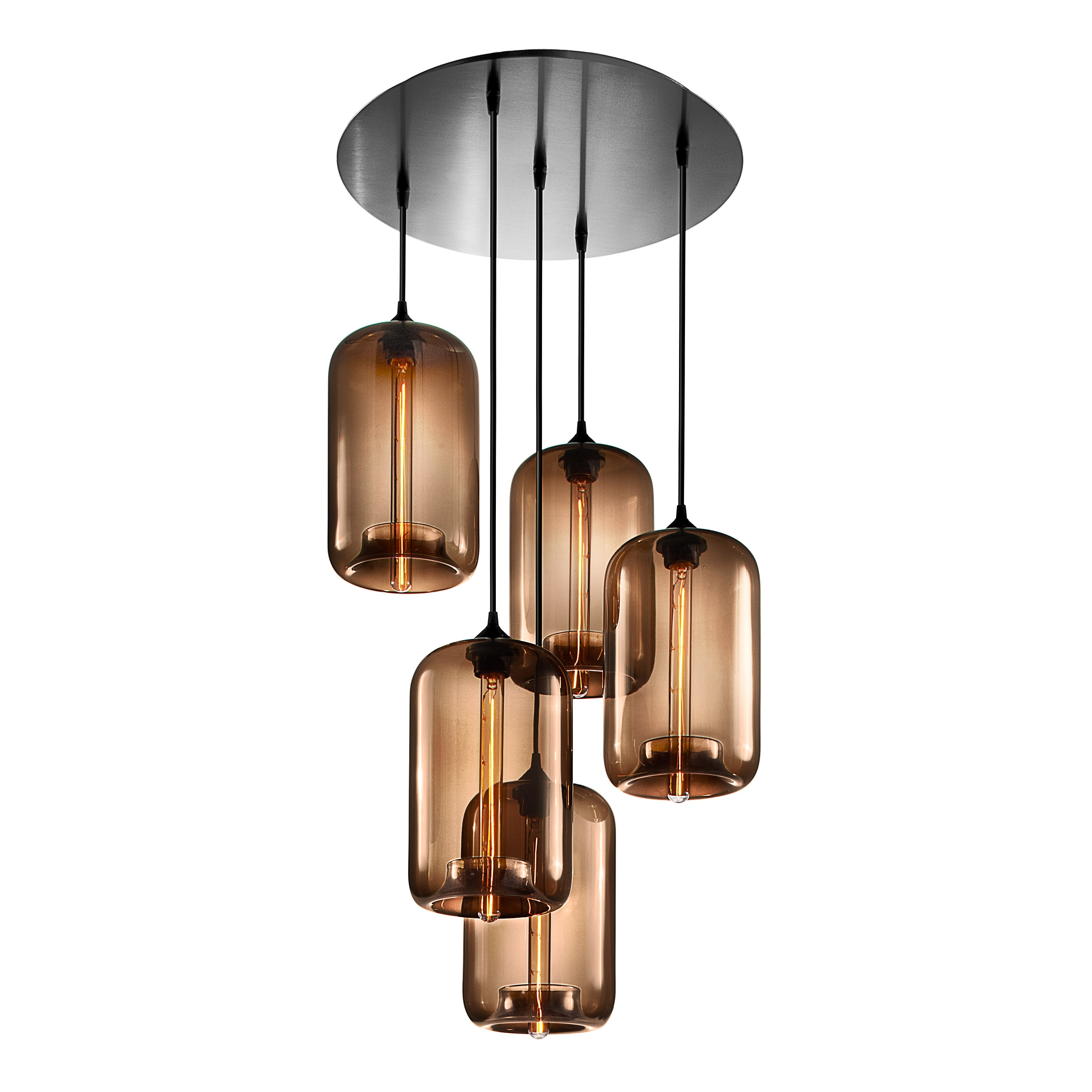 Circular 5 Modern Chandelier On Designer Pages With Regard To Modern Chandelier (Image 6 of 15)