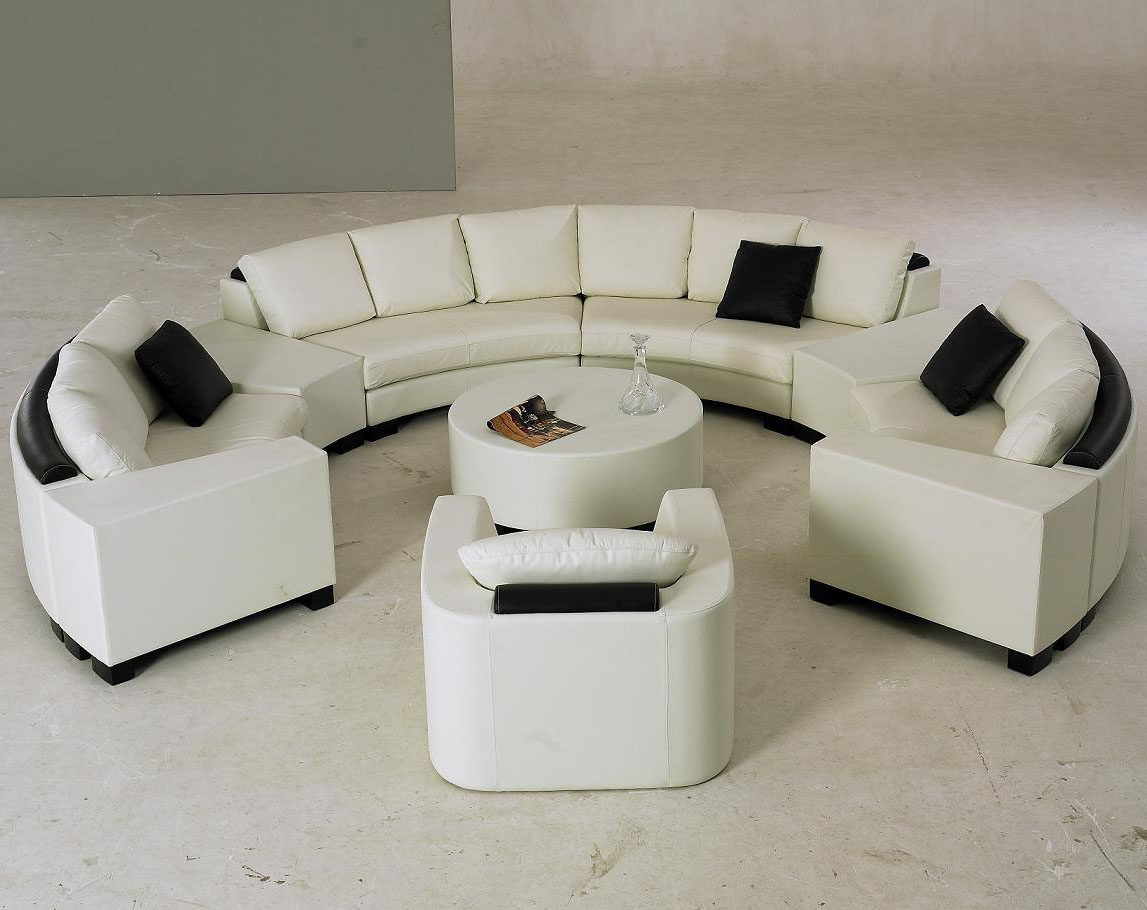 Circular Sofa Sectional And Circular Curved Sectional Sofa For Circle Sectional Sofa (Image 2 of 15)