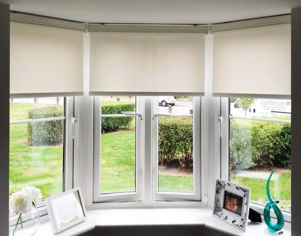 City Blinds Shutters Roller Blinds Supplier In Roman Blinds On Bay Windows (Image 3 of 15)