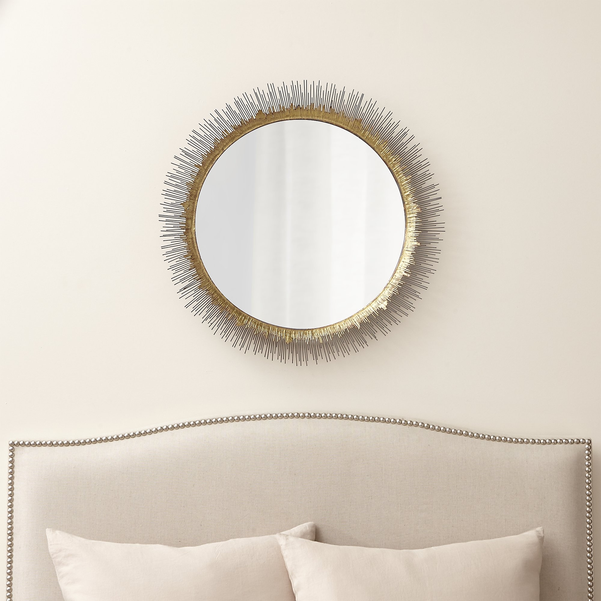Clarendon Large Round Wall Mirror Crate And Barrel Crate And In Clarendon Mirror (Image 5 of 15)