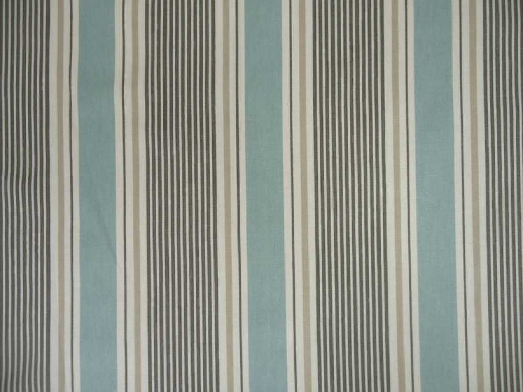 Clarke Clarke Maritime Sail Stripe Mineral F040803 Cotton Fabric Intended For Cotton Fabric For Curtains (Image 3 of 15)