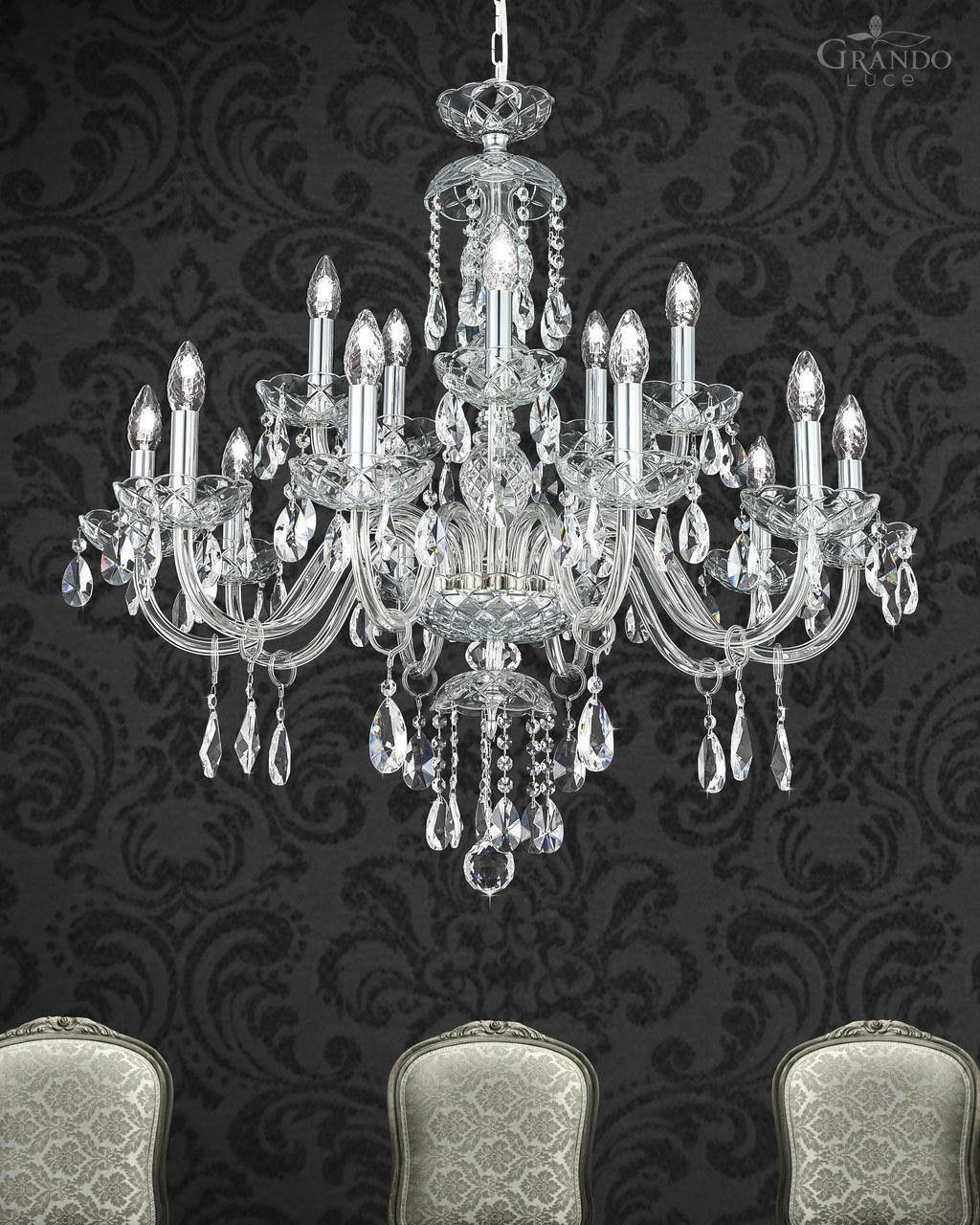 Classic Baroque Crystal Chandelier Collection Olympia Grandoluce Inside Baroque Chandelier (Image 7 of 15)
