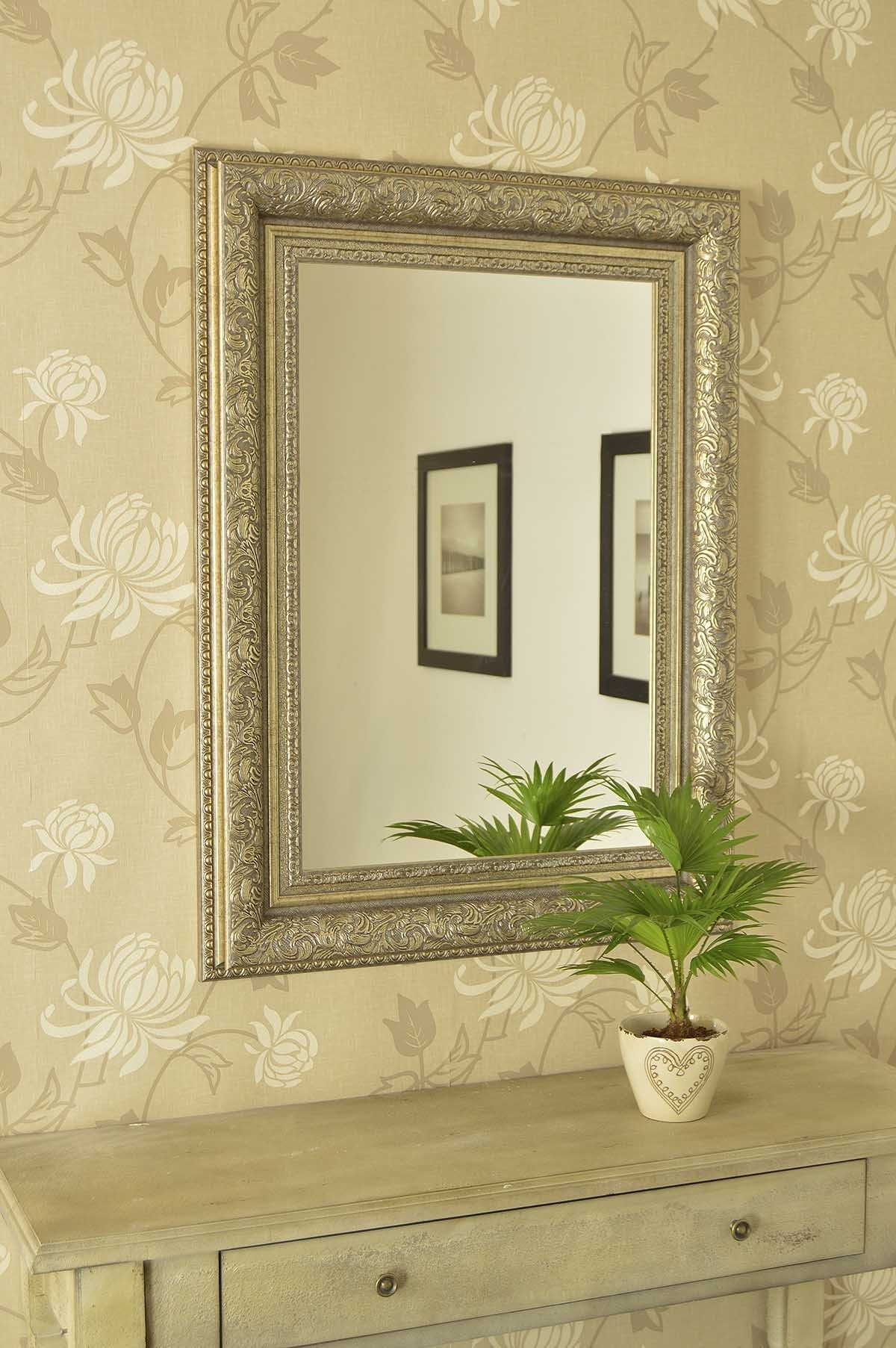Classic Impression On Antique Wall Mirrors Vwho Intended For Cream Wall Mirror (Image 5 of 15)