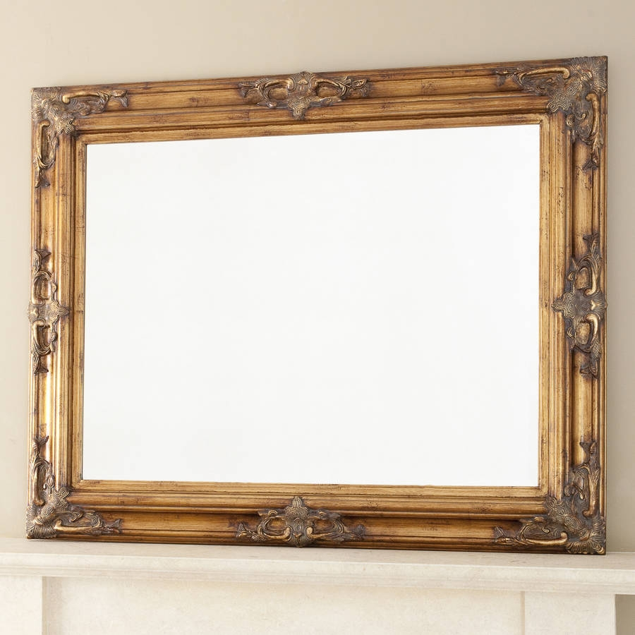 Classic Ornate Gold Mirror Decorative Mirrors Online For Gold Ornate Mirror (Image 1 of 15)
