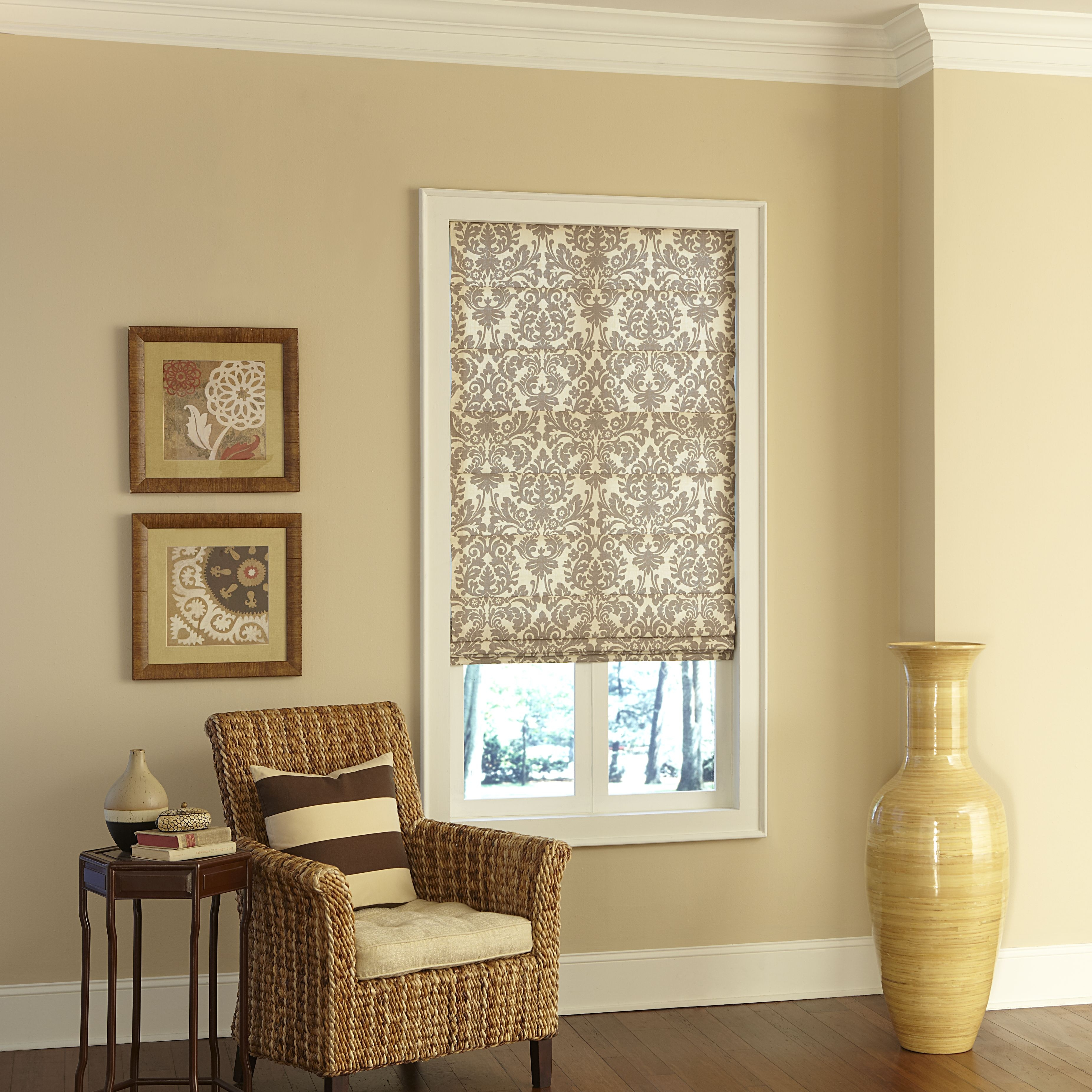 Classic Roman Shade Photo Gallery Blinds In Cotton Blinds (Image 6 of 15)