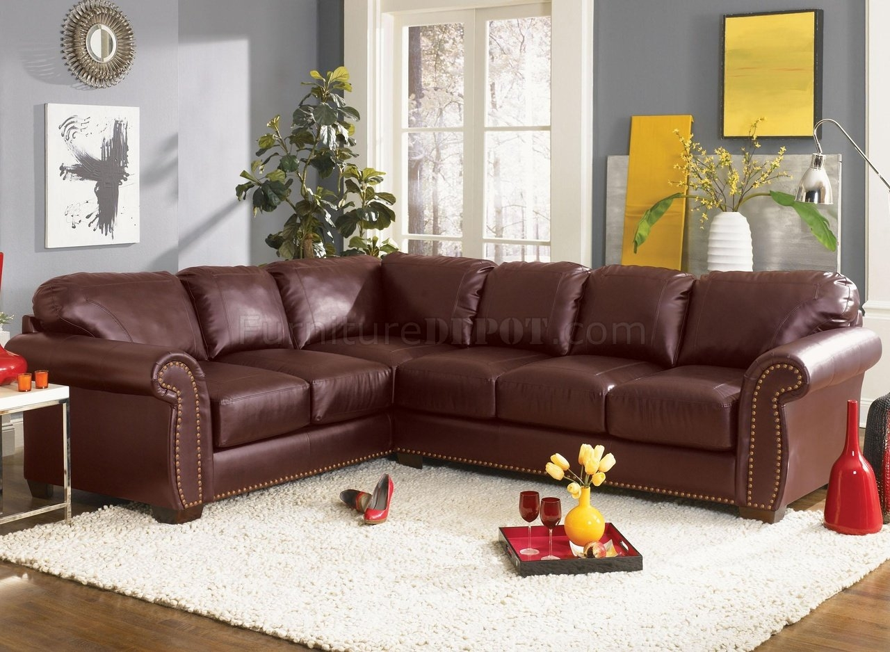 Classic Sectional Sofa Cassidy L190 Burgundy Inside Classic Sectional Sofas (Image 4 of 15)