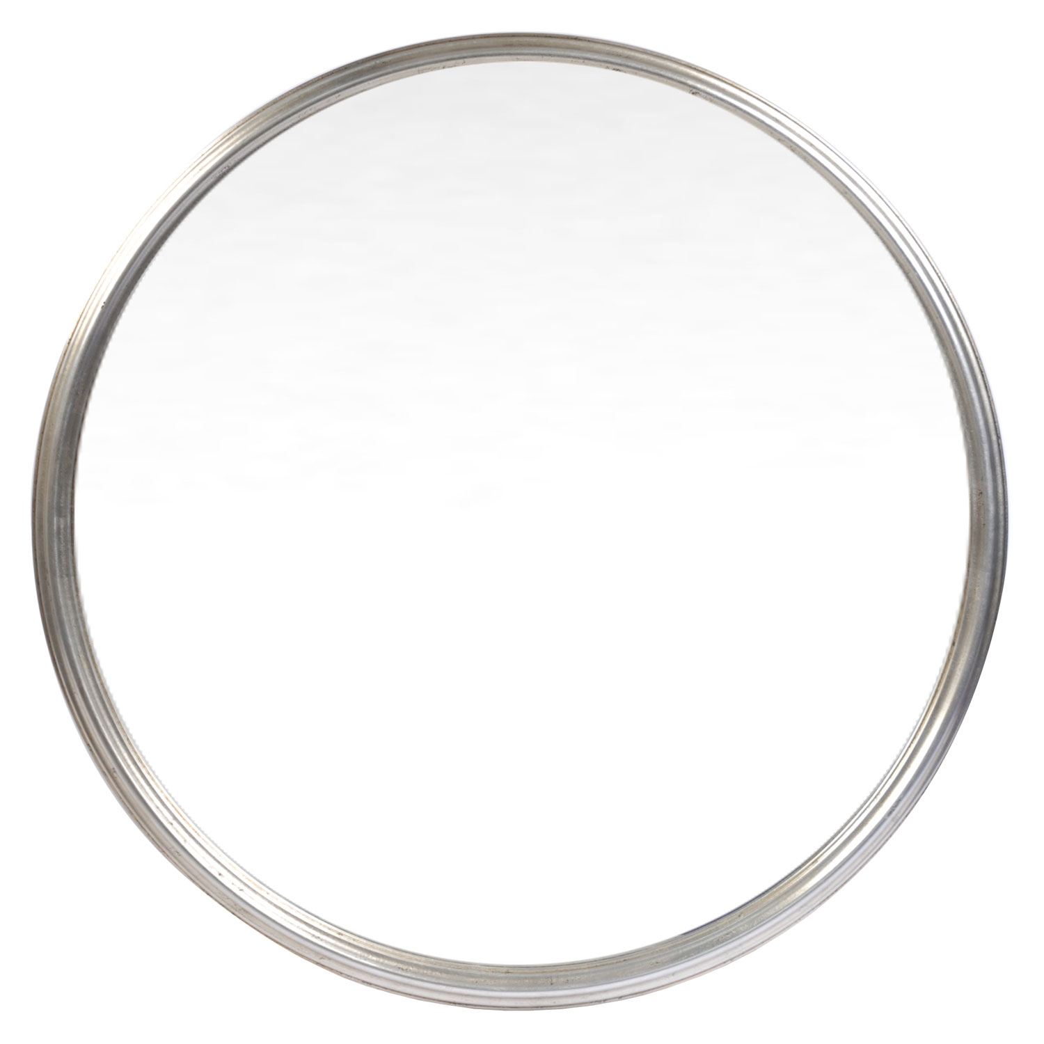 Classic Silver Round Mirror Round Mirrors Mirrors Home Decor Intended For Silver Round Mirrors (Image 4 of 15)