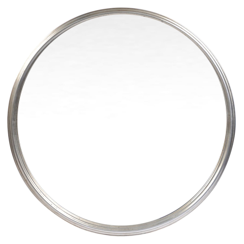 Classic Silver Round Mirror Round Mirrors Mirrors Home Decor Intended For Silver Round Mirrors (Image 4 of 15)