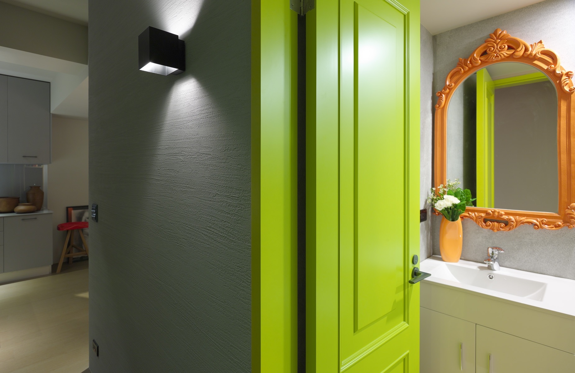 Classy Idea Funky Bathroom Designs 3 Small Spaces Bathrooms Throughout Funky Bathroom Mirror (Image 2 of 15)