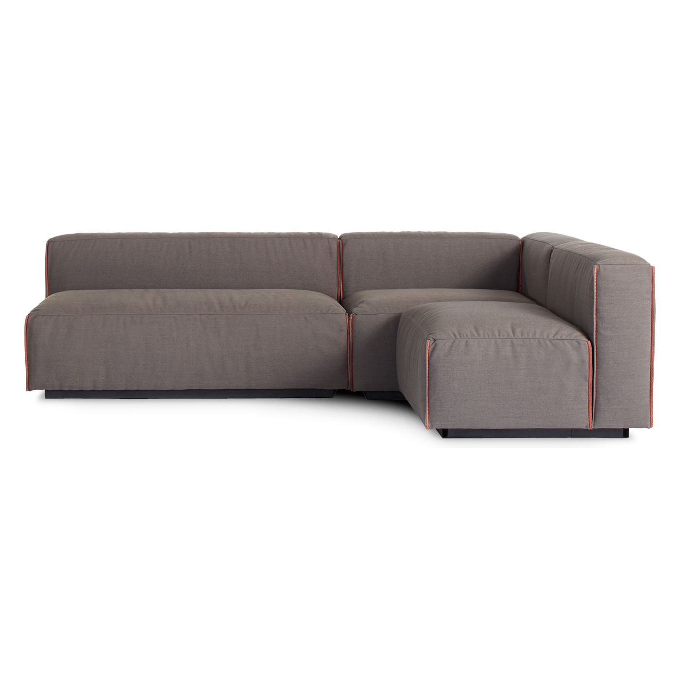 Cleon Medium Sectional Armless Sectional Blu Dot With Regard To Armless Sectional Sofas (Image 8 of 15)