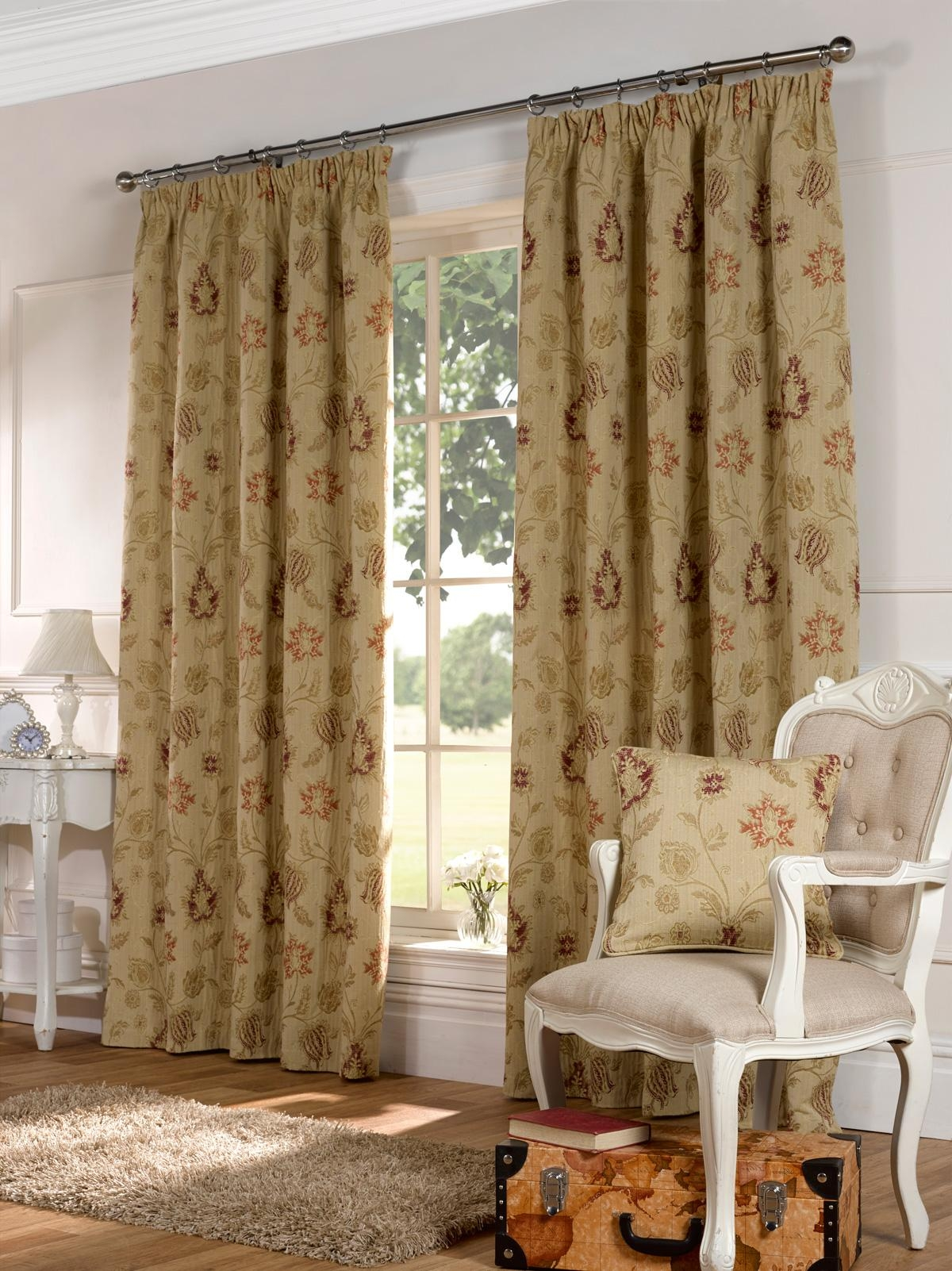 Clova Ready Made Curtains In Multi Free Uk Delivery Terrys Fabrics In Heavy Lined Curtains (Image 1 of 15)